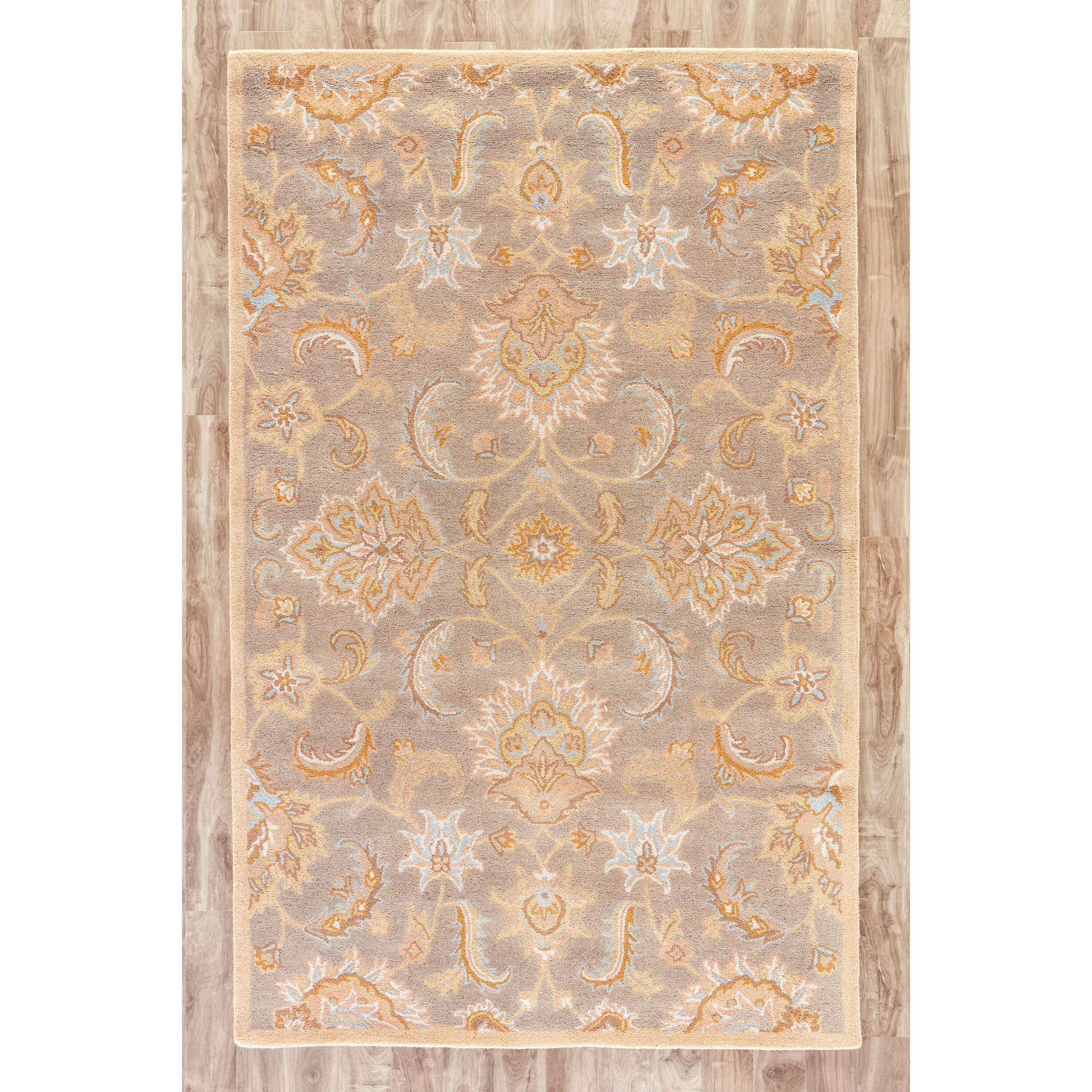 Jaipurliving mythos gray tan area rug reviews wayfair for Grey and tan rug
