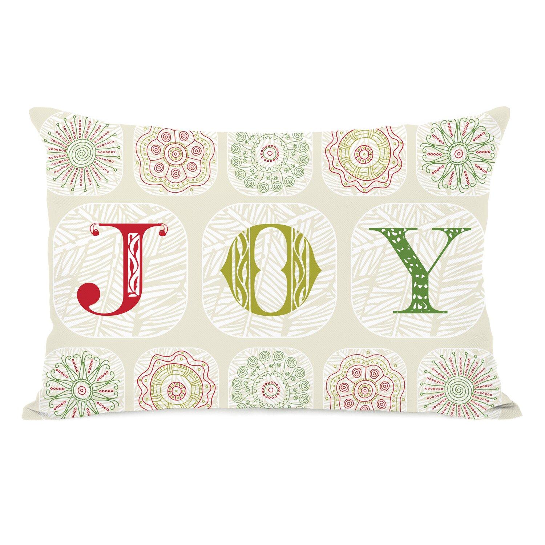 Joy Christmas Throw Pillows : One Bella Casa Holiday Boho Joy Throw Pillow & Reviews Wayfair
