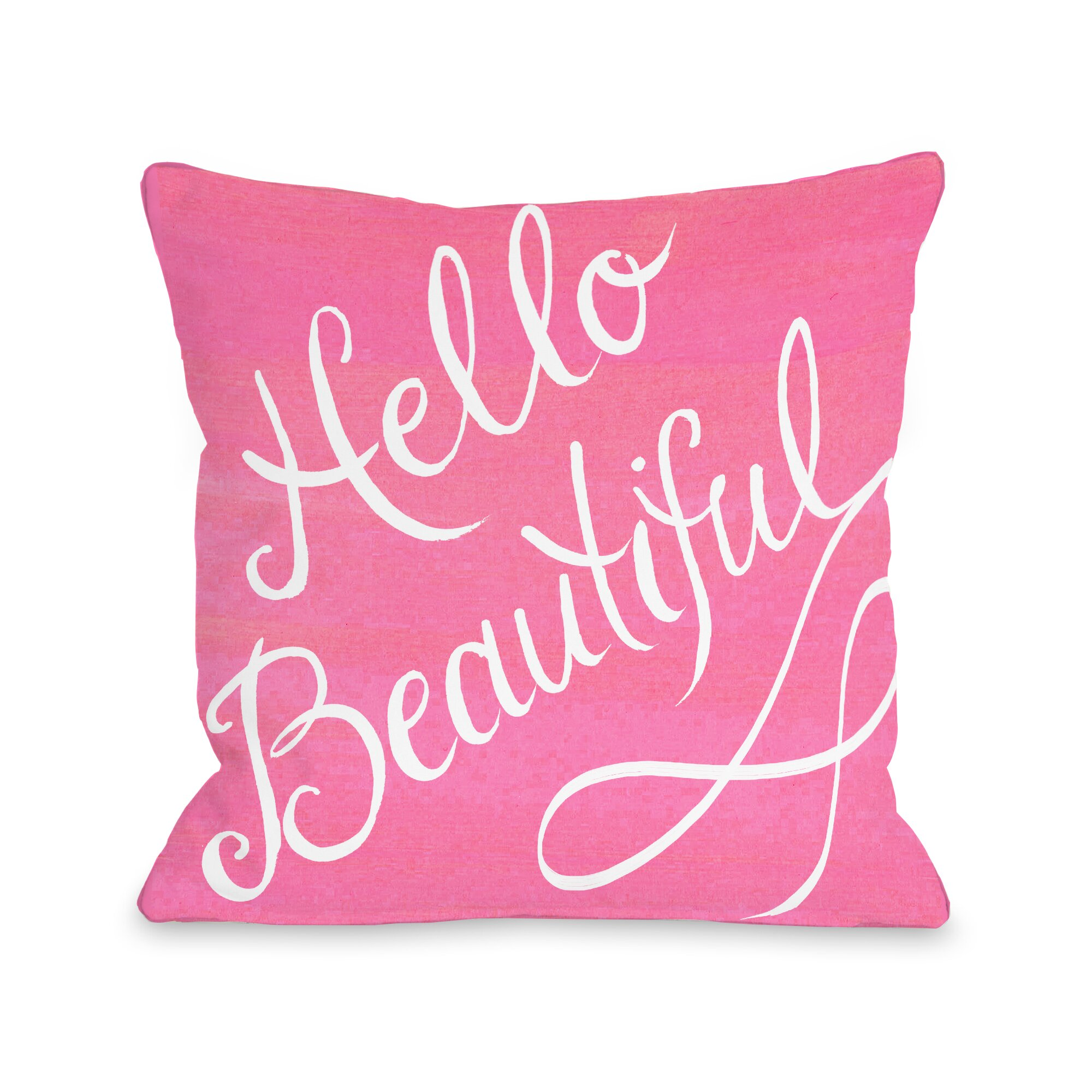 Hello Beautiful Decorative Pillow : One Bella Casa Hello Beautiful Bow Throw Pillow & Reviews Wayfair