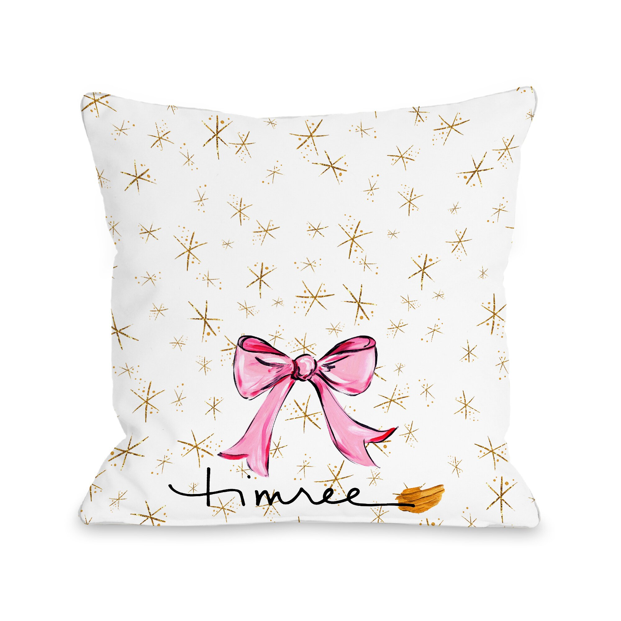 One Bella Casa Hello Beautiful Sparkles Throw Pillow & Reviews Wayfair