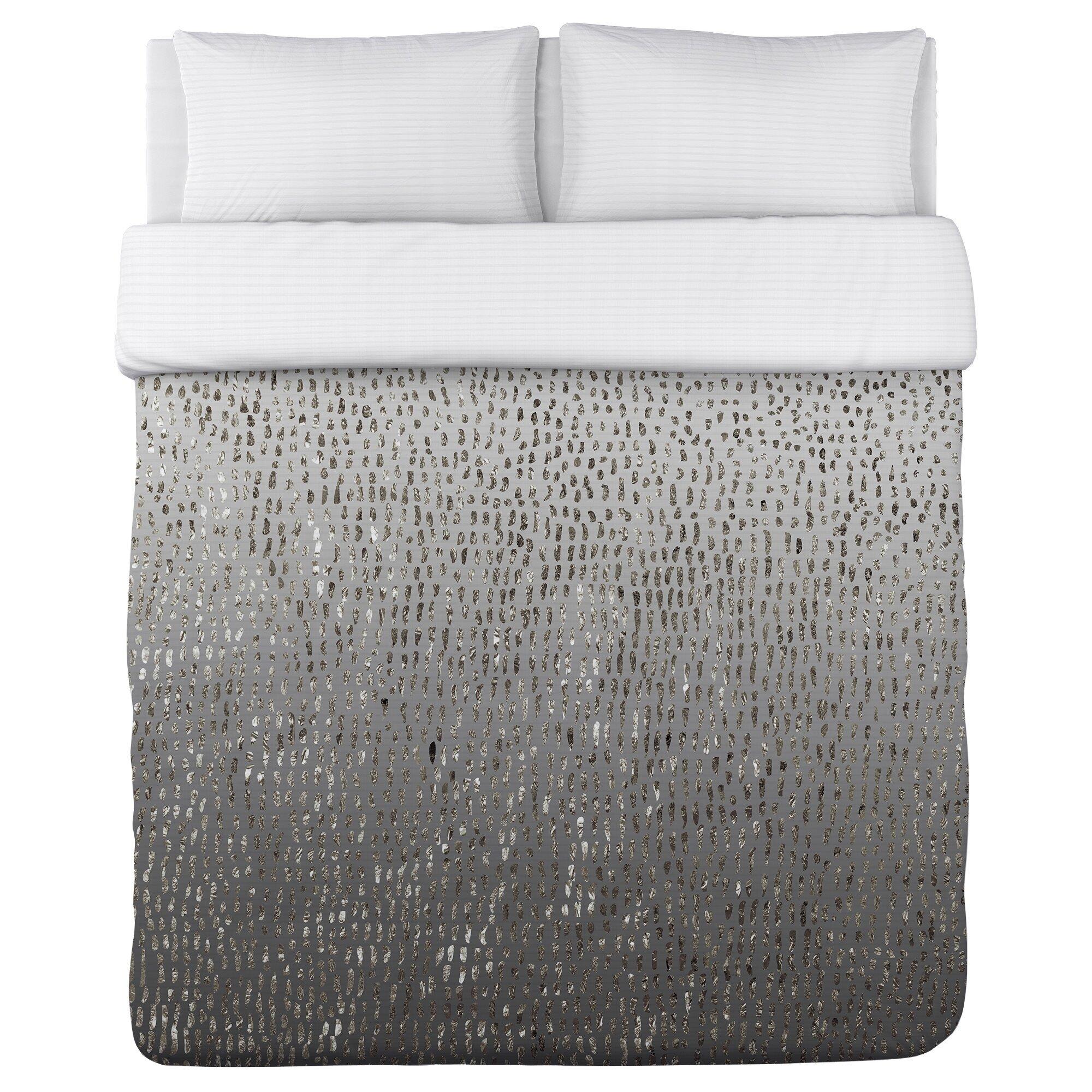 One Bella Casa Silver Flecks Fleece Duvet Cover Amp Reviews