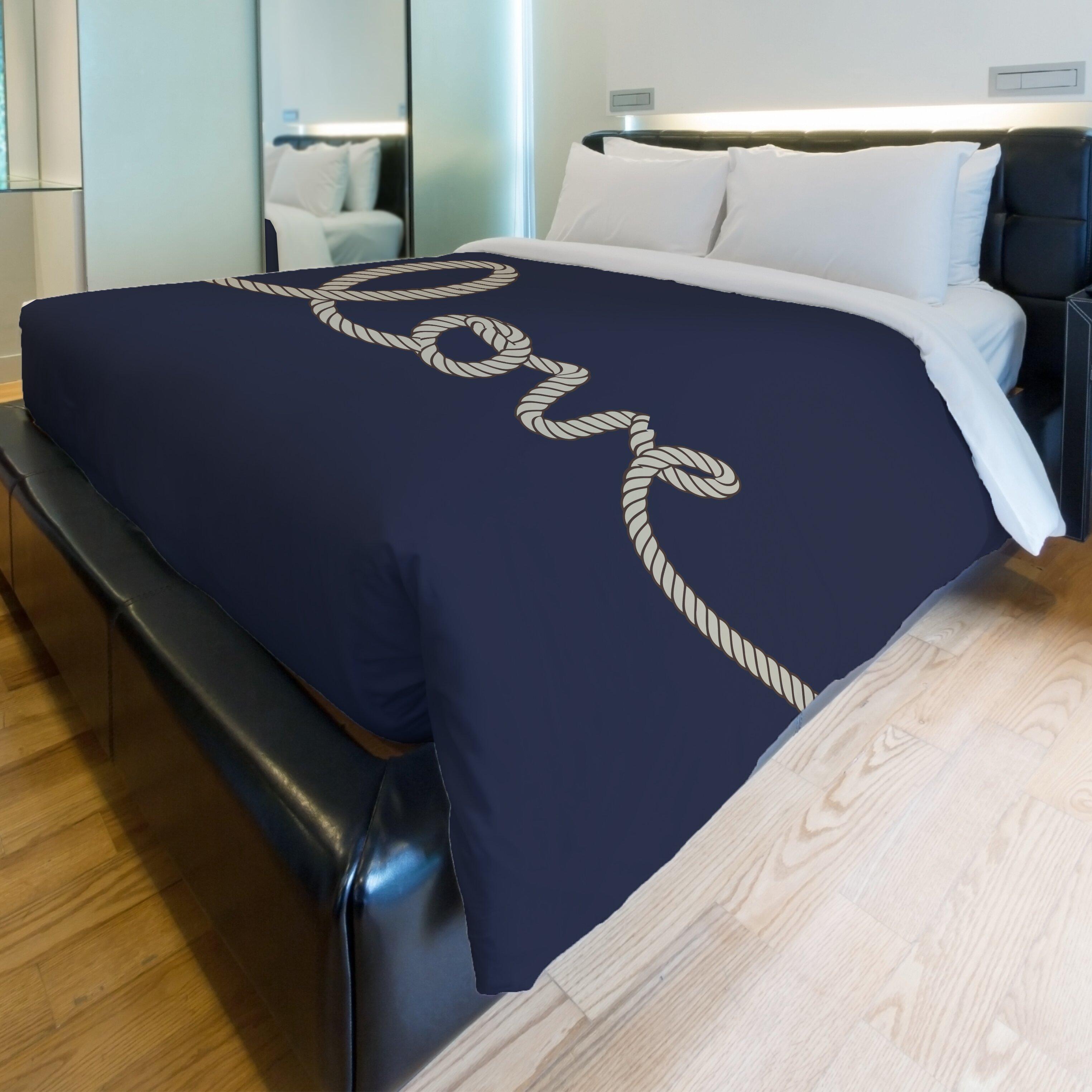 One Bella Casa Love Rope Fleece Duvet Cover Wayfair Ca