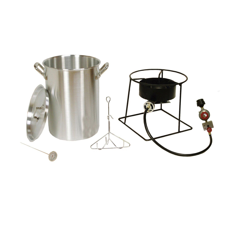 King kooker turkey fryer outdoor cooker package reviews for Fish cooker walmart