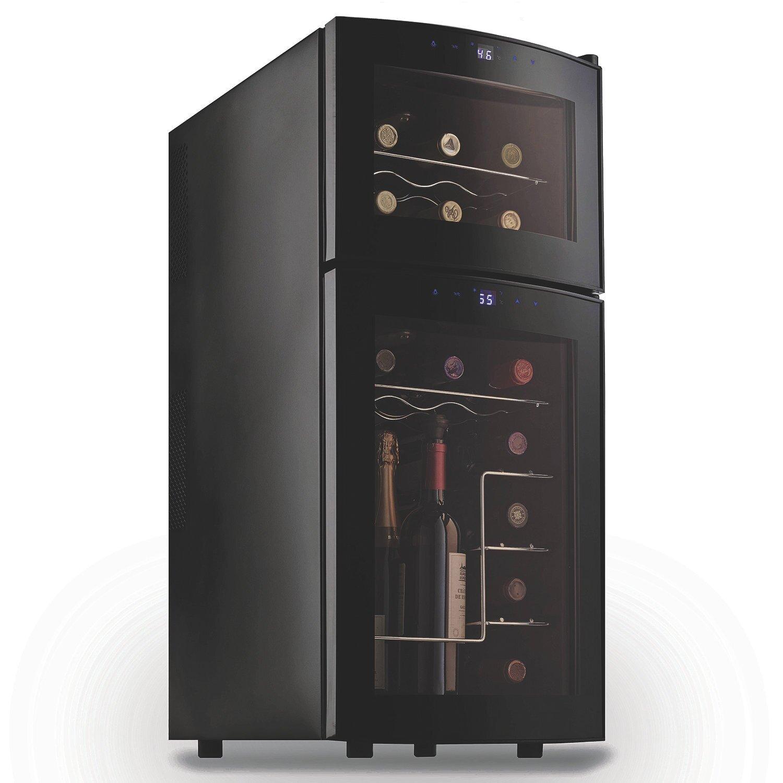 wine enthusiast companies 21 bottle dual zone wine refrigerator reviews wayfair. Black Bedroom Furniture Sets. Home Design Ideas