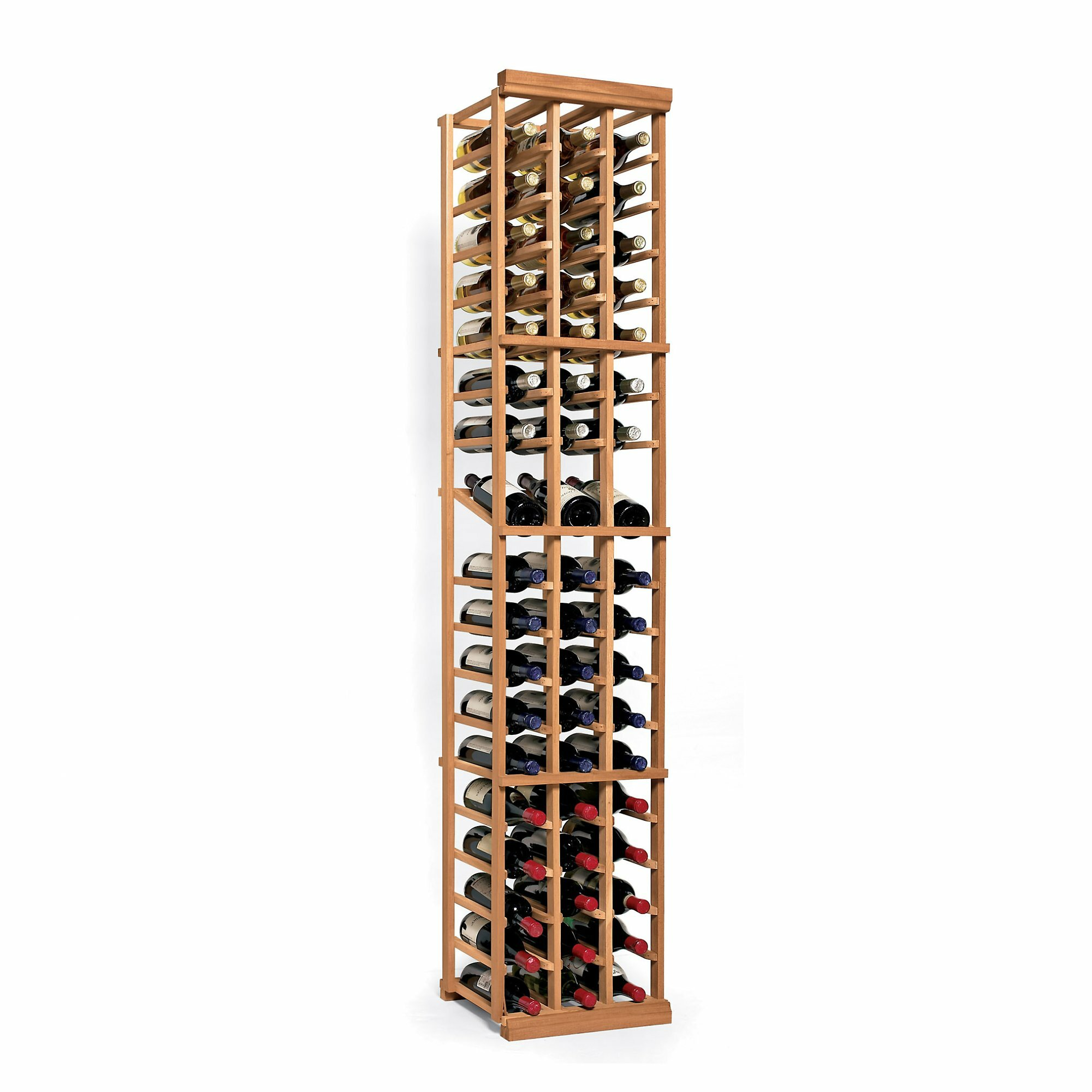 Wine enthusiast companies n 39 finity 54 bottle floor wine for Floor wine rack