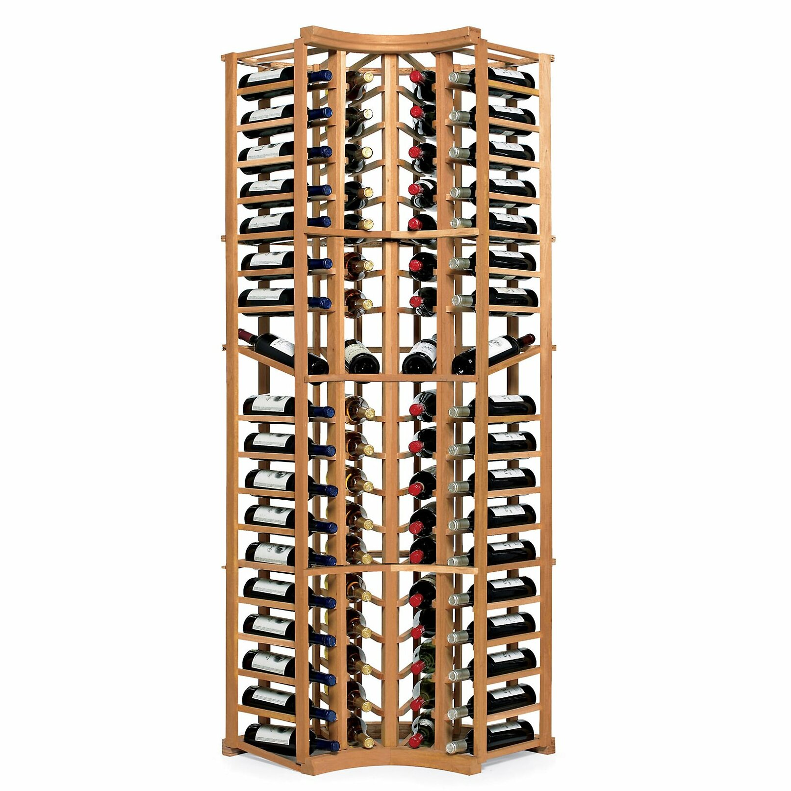 Wine enthusiast companies n 39 finity 72 bottle floor wine for Floor wine rack