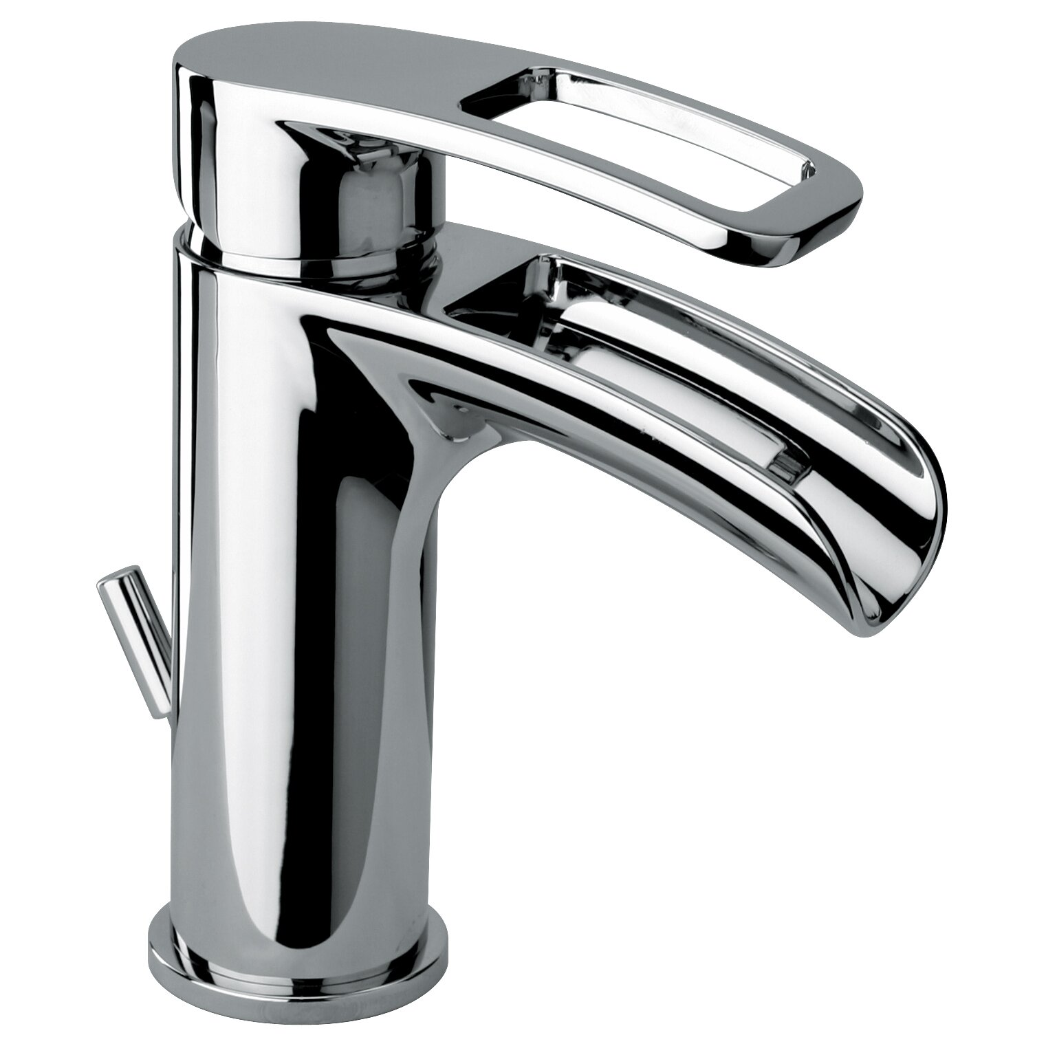 Jewel Faucets Single Handle Single Hole Lavatory Faucet With Waterfall Spout Wayfair