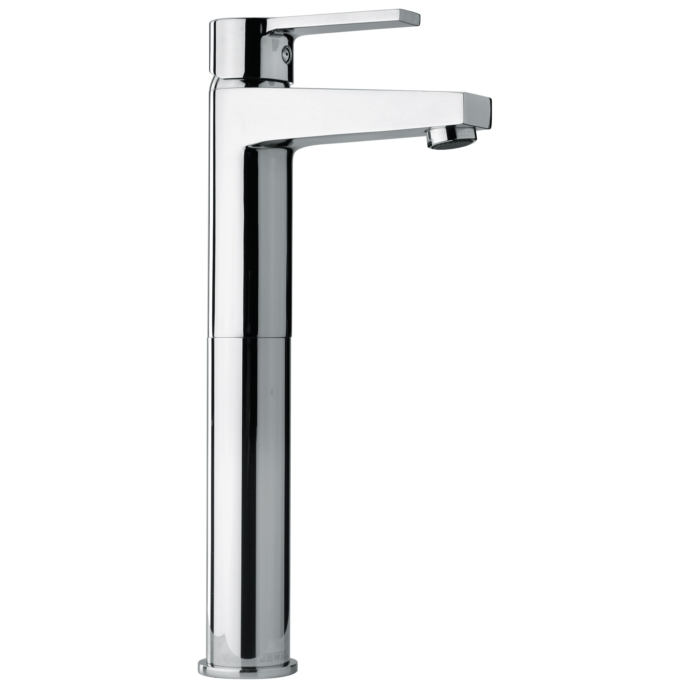 Jewel faucets j14 bath series single lever handle tall for Bathroom sink lever taps
