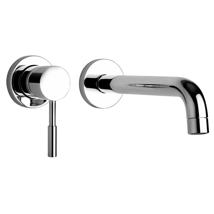 jewel faucets j16 bath series two hole wall mount bathroom faucet with