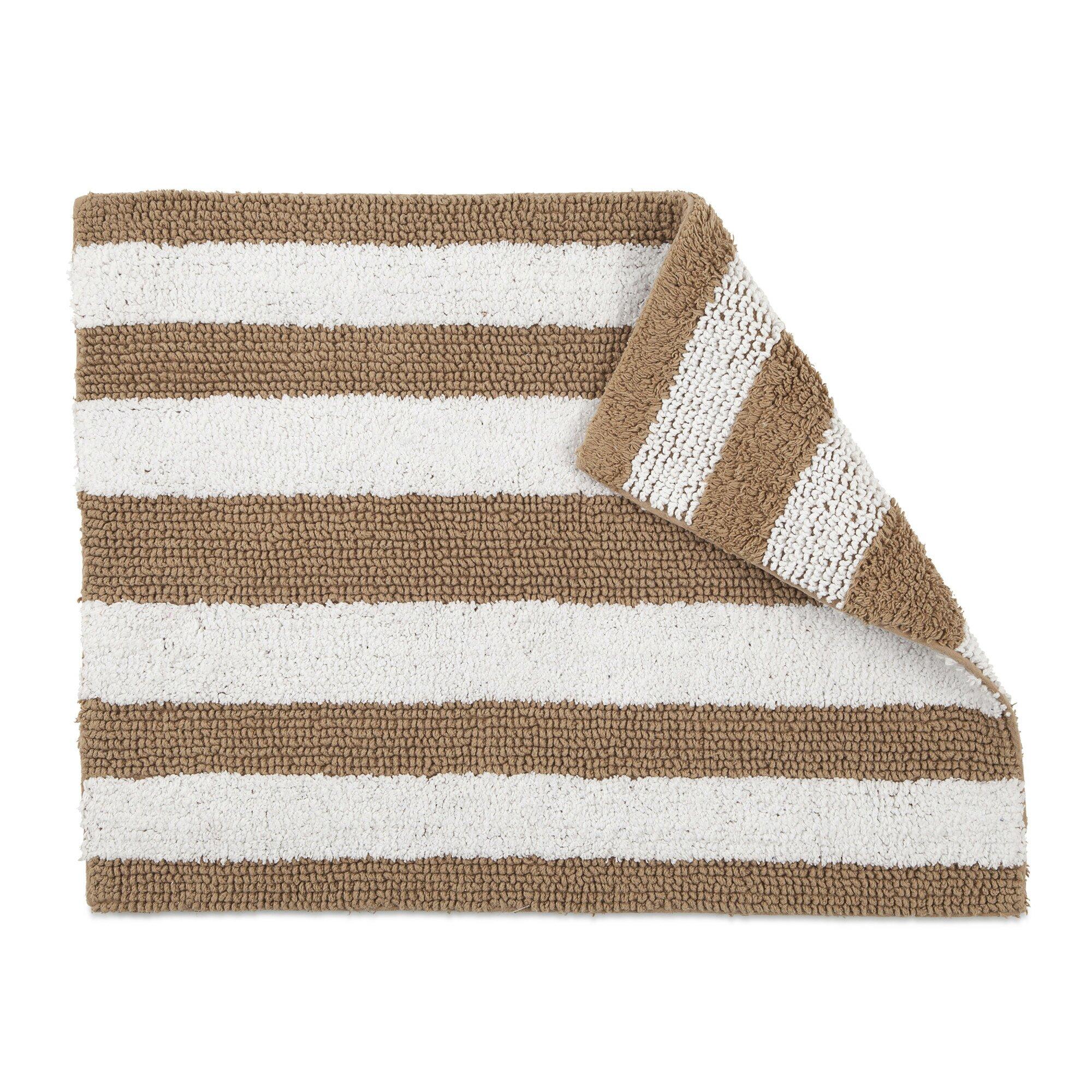 Reversible Bathroom Mats: IZOD Reversible Stripe Bath Rug & Reviews