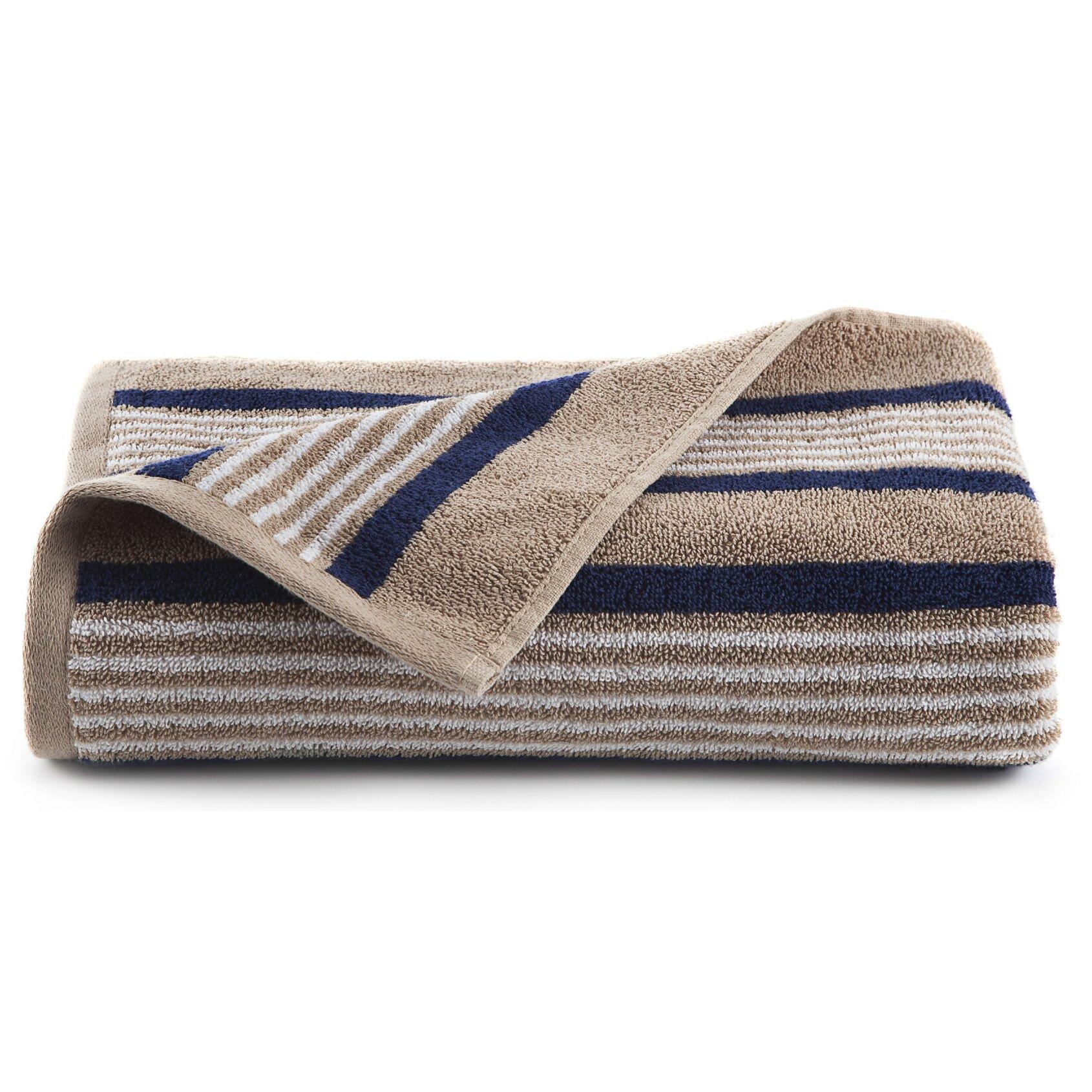 Bathroom Towels Striped: IZOD Racer Stripe Bath Towel & Reviews