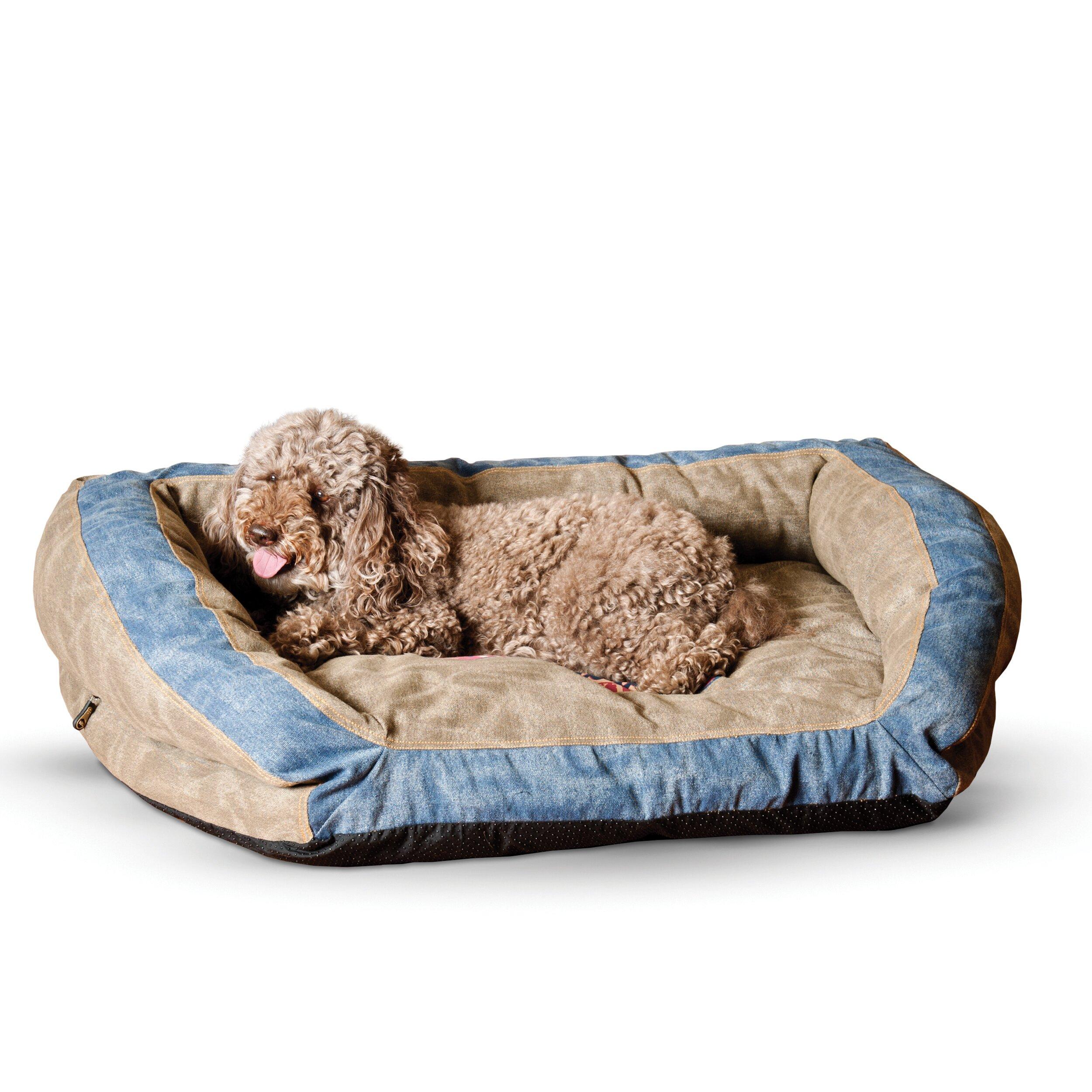 k h manufacturing premium logo bolster dog bed reviews wayfair. Black Bedroom Furniture Sets. Home Design Ideas