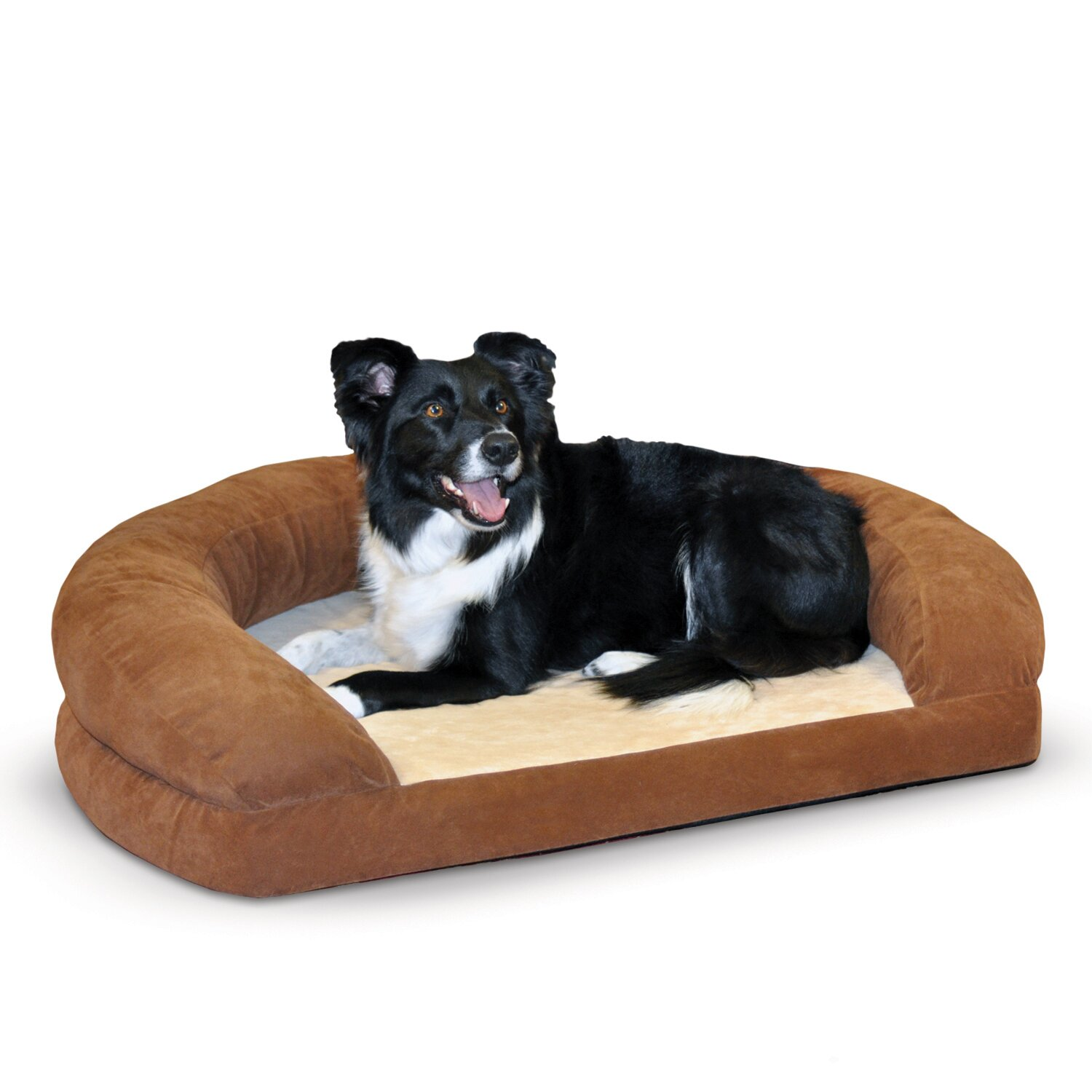 Orthopedic Dog Bed With Bolster