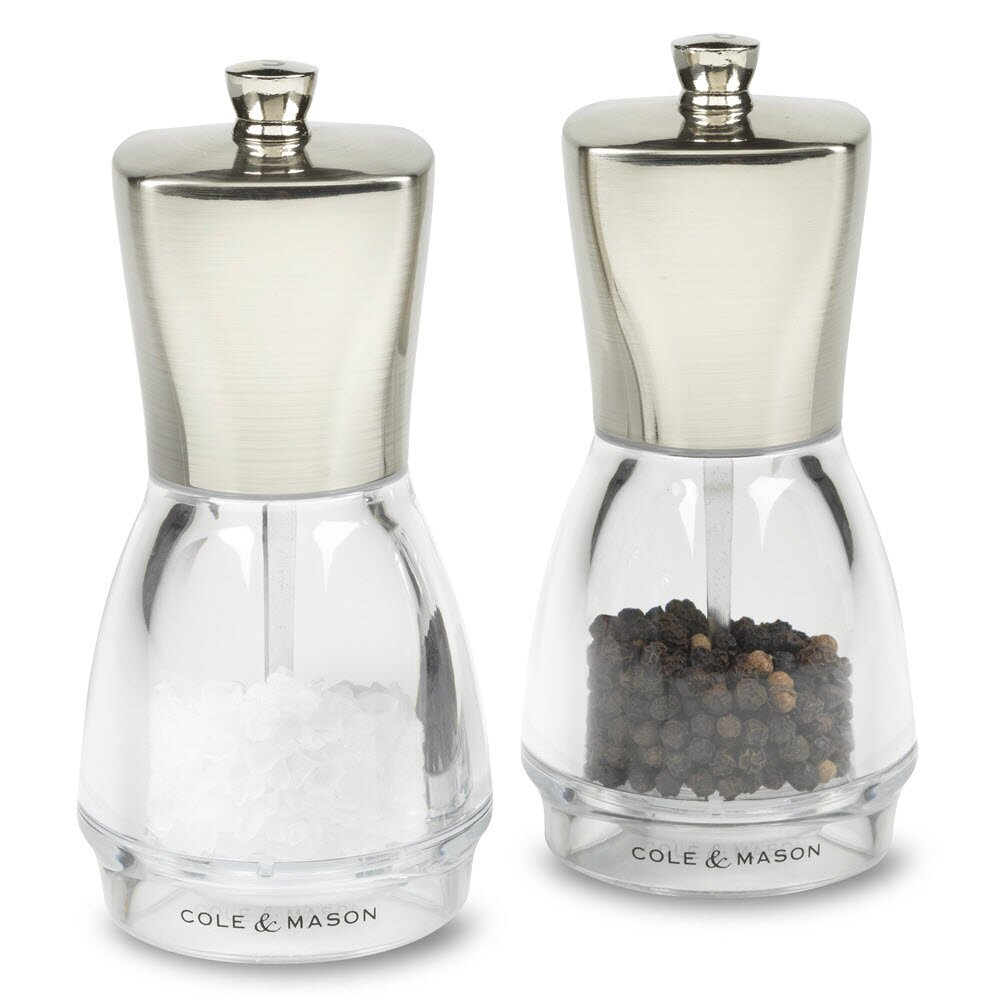 cole mason salisbury 2 piece salt and pepper mill set reviews wayfair. Black Bedroom Furniture Sets. Home Design Ideas