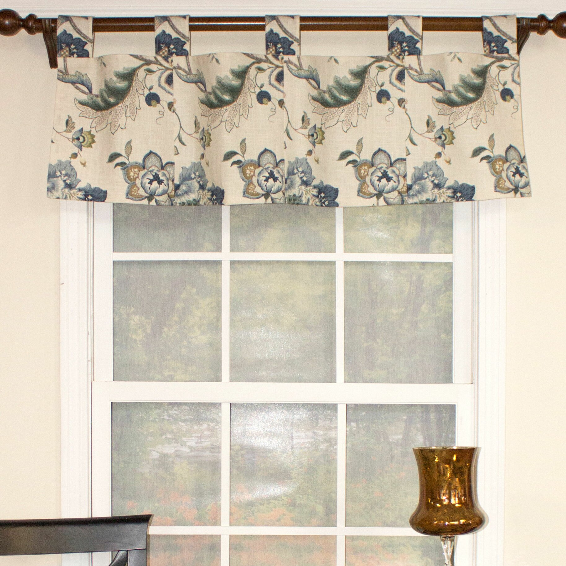 Rlf Home Ophelia Patchwork Tab Iris Curtain Valance