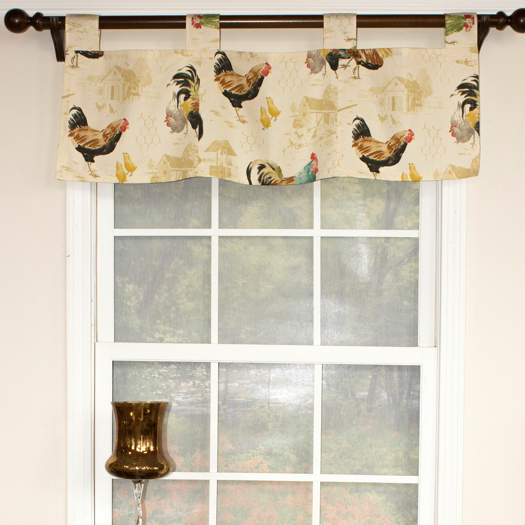 Rlf Home Rooster Strut Speckle Tab Curtain Valance Wayfair