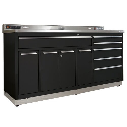 "Viper Tool Storage Garage Workstation 72"" Wide 10 Drawer ..."