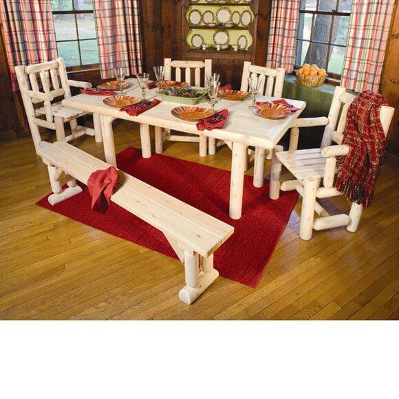 Cedar Dining Room Table: Rustic Cedar Solid Top Cedar Dining Table & Reviews