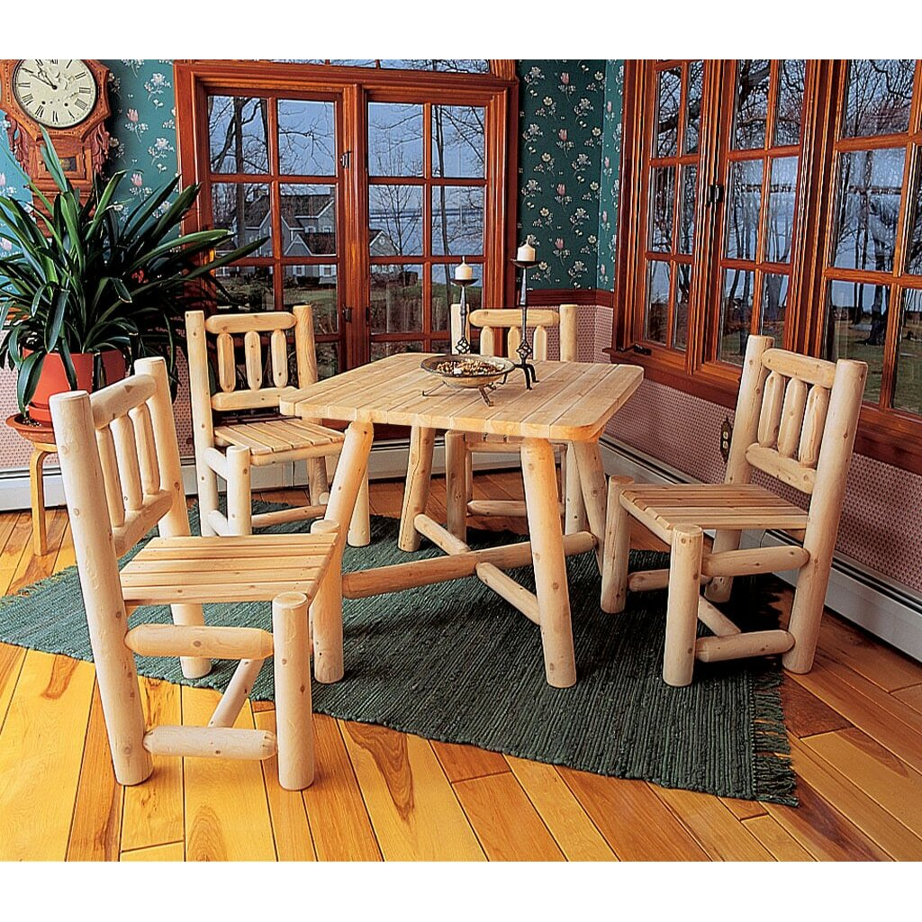 Log Dining Room Tables: Rustic Cedar Dining Table