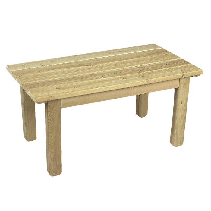 rustic cedar cedar english garden table reviews wayfair