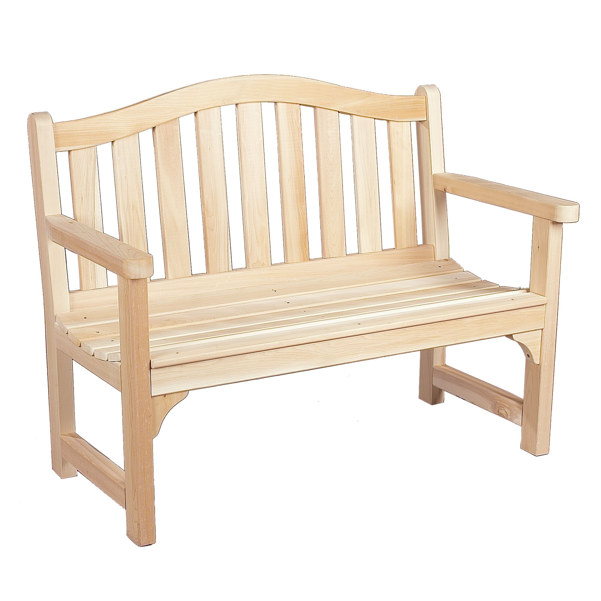Rustic Cedar Cedar Camel Back Wood Bench Reviews Wayfair
