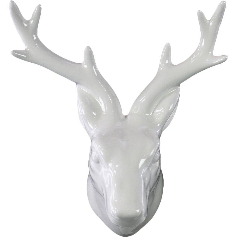 Urban Trends Ceramic Deer Head Wall Decor Reviews Wayfair