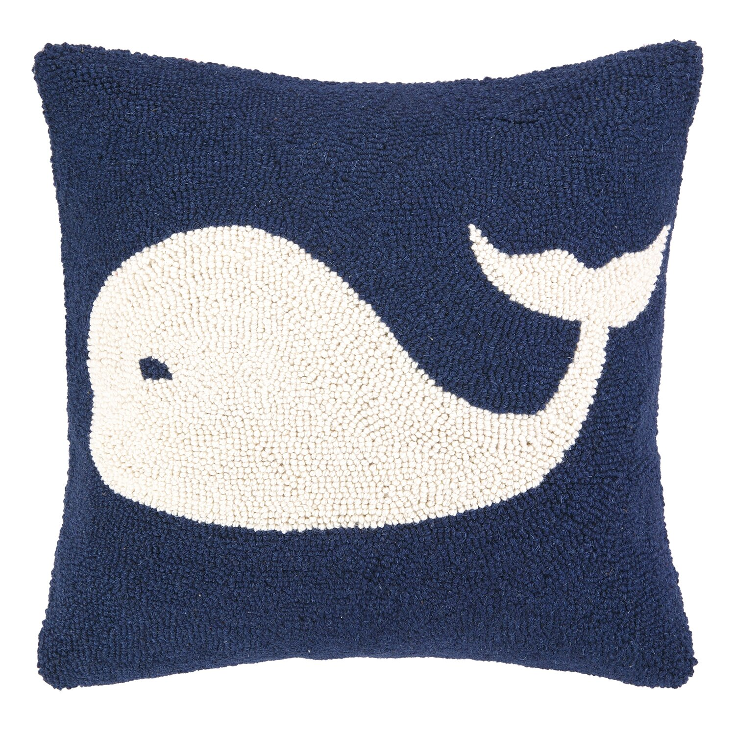 Nautical Coastal Throw Pillows : Peking Handicraft Nautical Hook Whale Throw Pillow & Reviews Wayfair