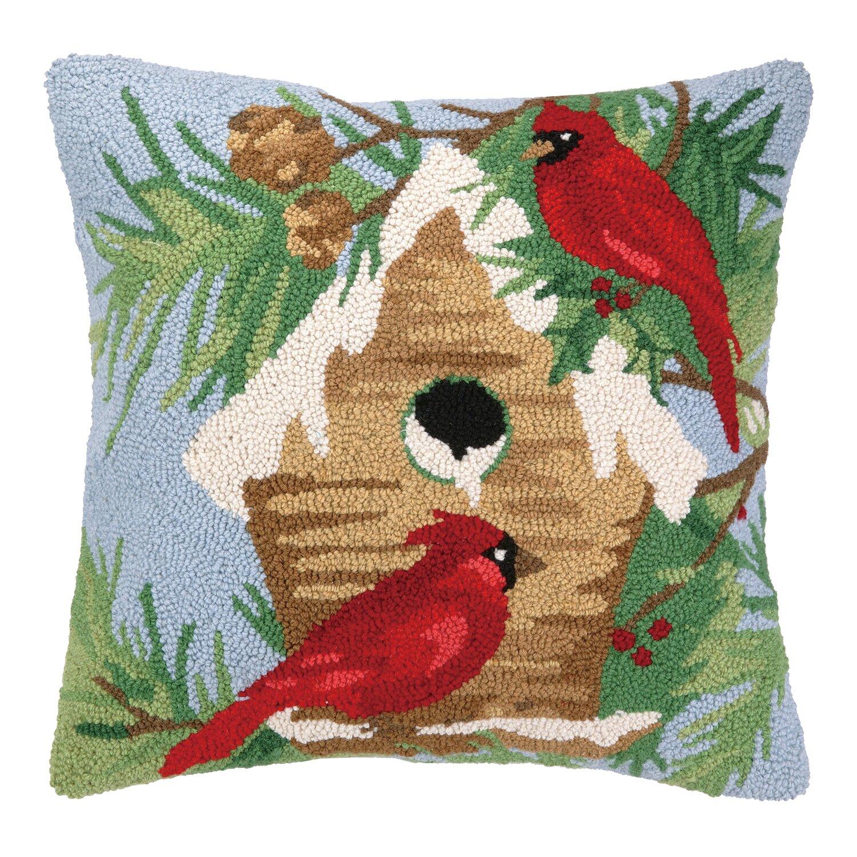 Peking Handicraft Winter Bird Hook Wool Throw Pillow & Reviews Wayfair