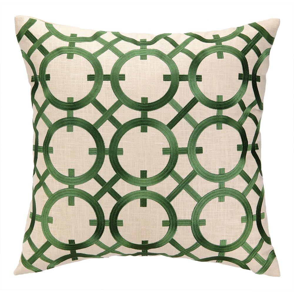 Peking Handicraft Parisian Lights Embroidered Linen Throw Pillow Wayfair