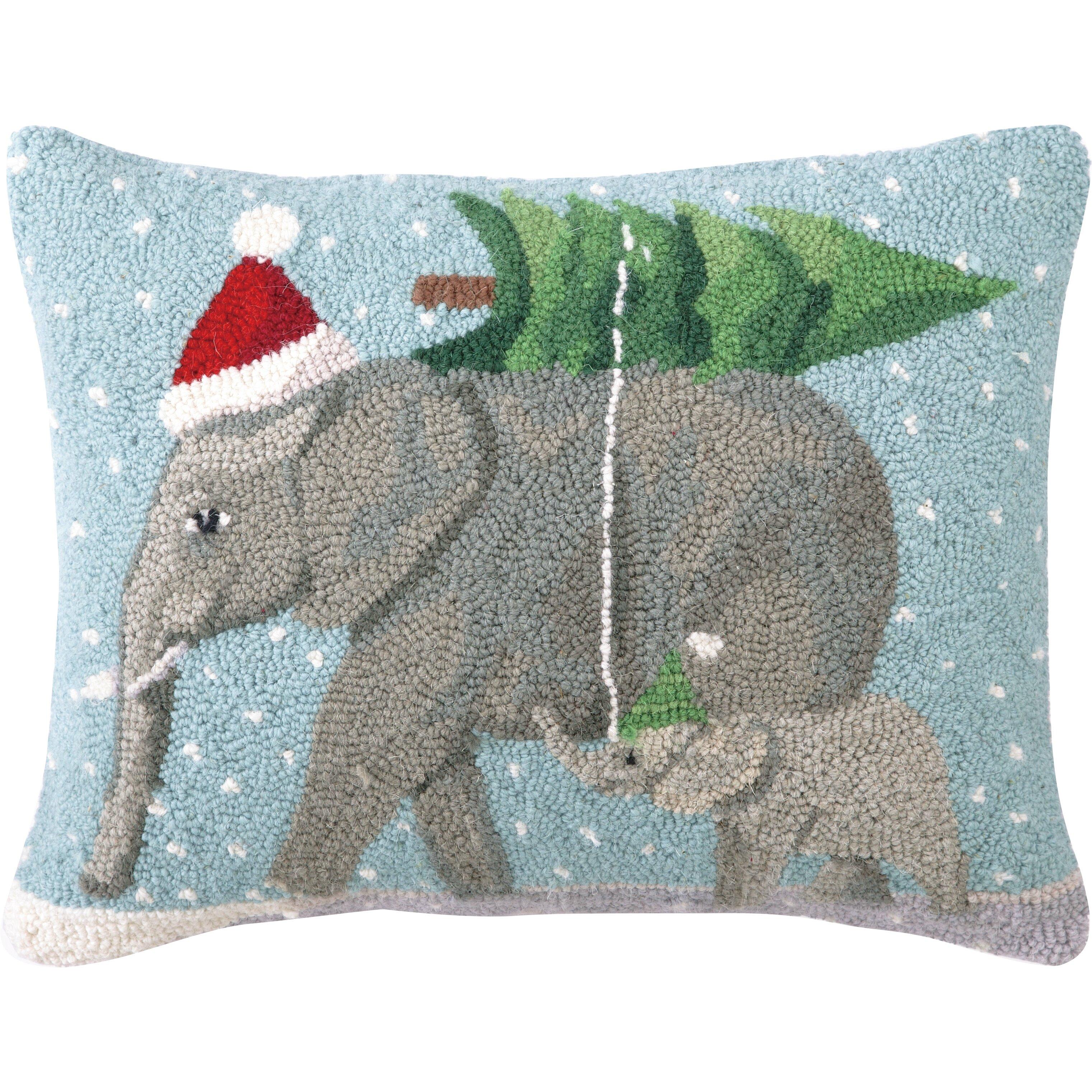Home Decor Elephants Peking Handicraft Christmas Elephants Hook Wool Throw