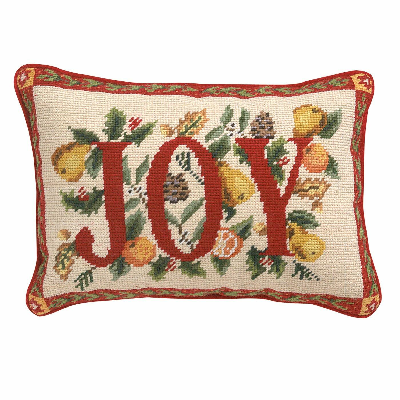 Joy Throw Pillows : Peking Handicraft Joy Throw Pillow & Reviews Wayfair