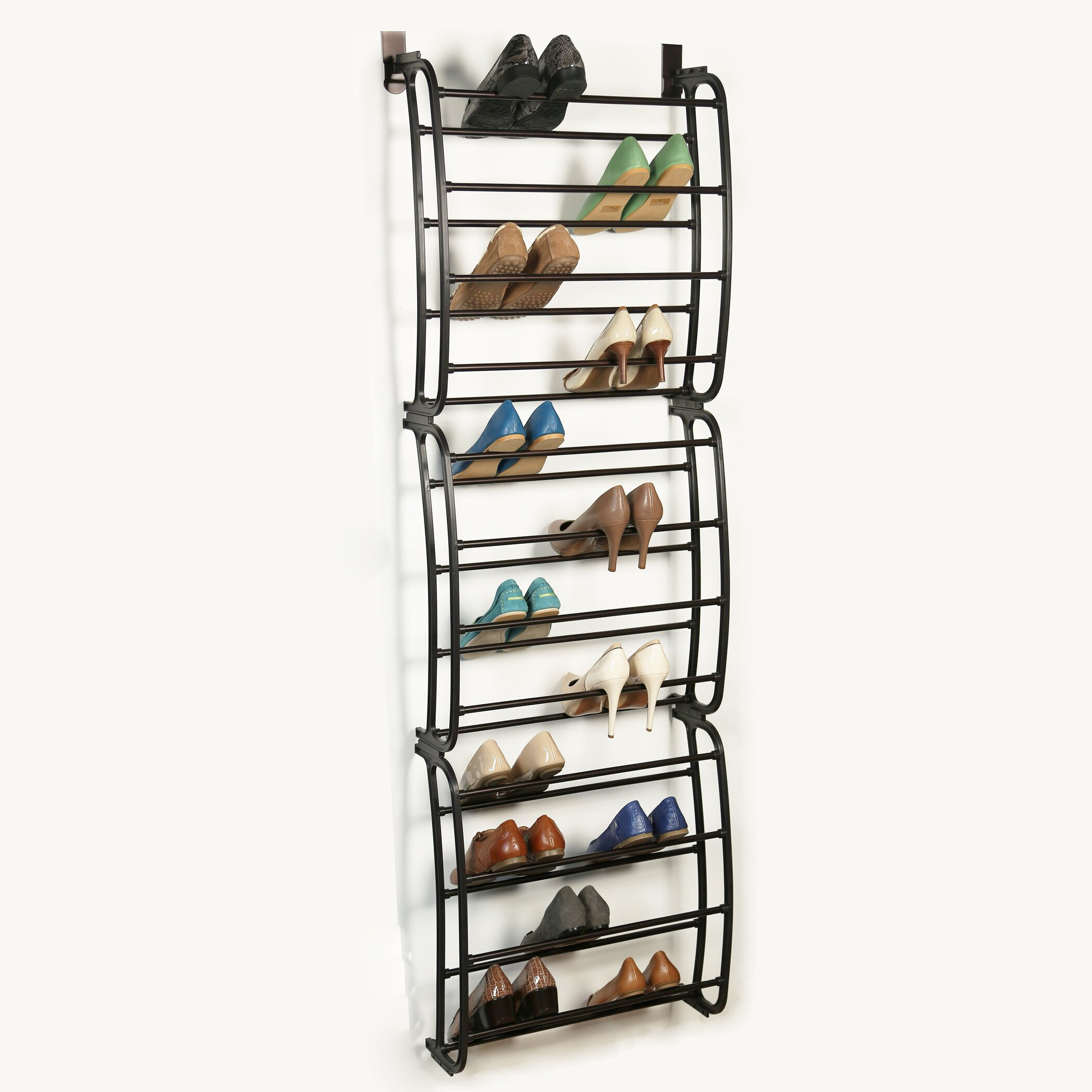 richards homewares 12 tier overdoor shoe organizer reviews wayfair. Black Bedroom Furniture Sets. Home Design Ideas