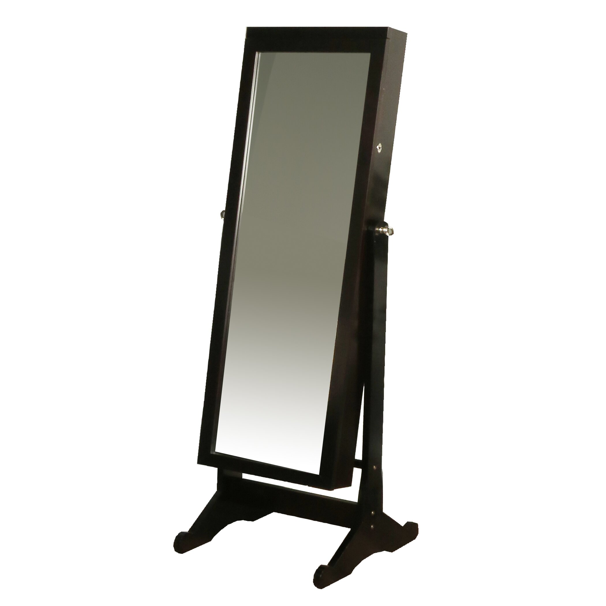 Richards Homewares Standing Jewelry Armoire With Mirror