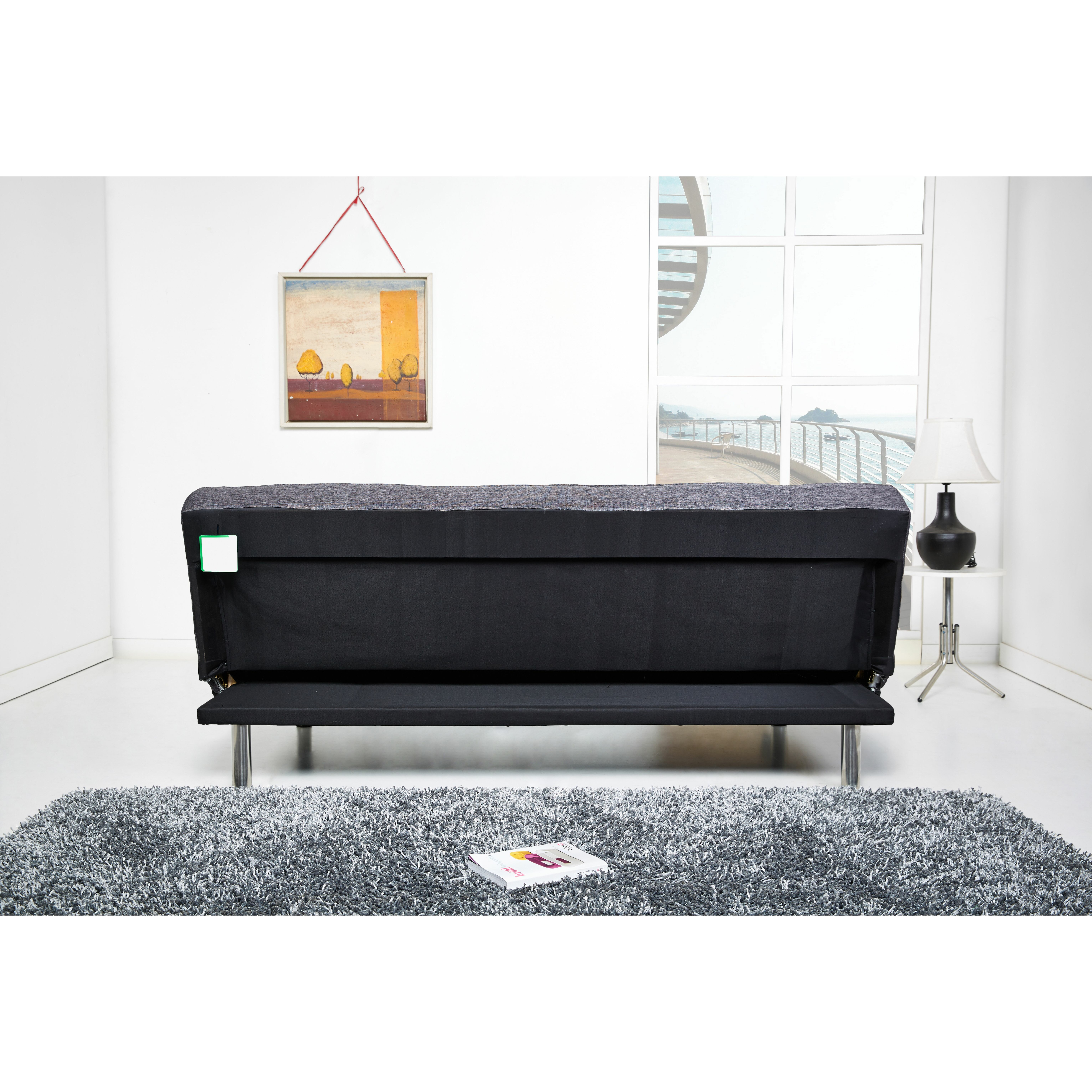 leader lifestyle zenko 3 seater clic clac sofa bed. Black Bedroom Furniture Sets. Home Design Ideas