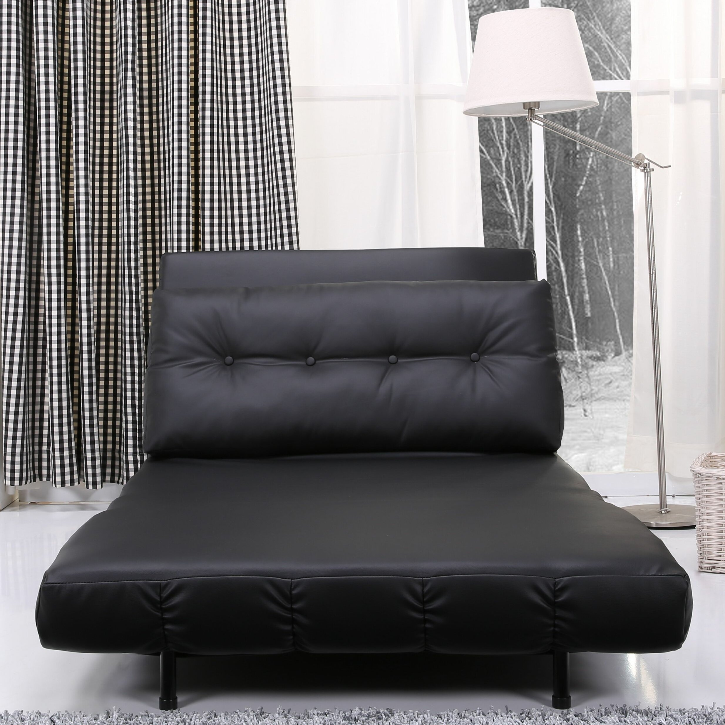 leader lifestyle romeo clic clac convertible futon chair reviews wayfair uk. Black Bedroom Furniture Sets. Home Design Ideas
