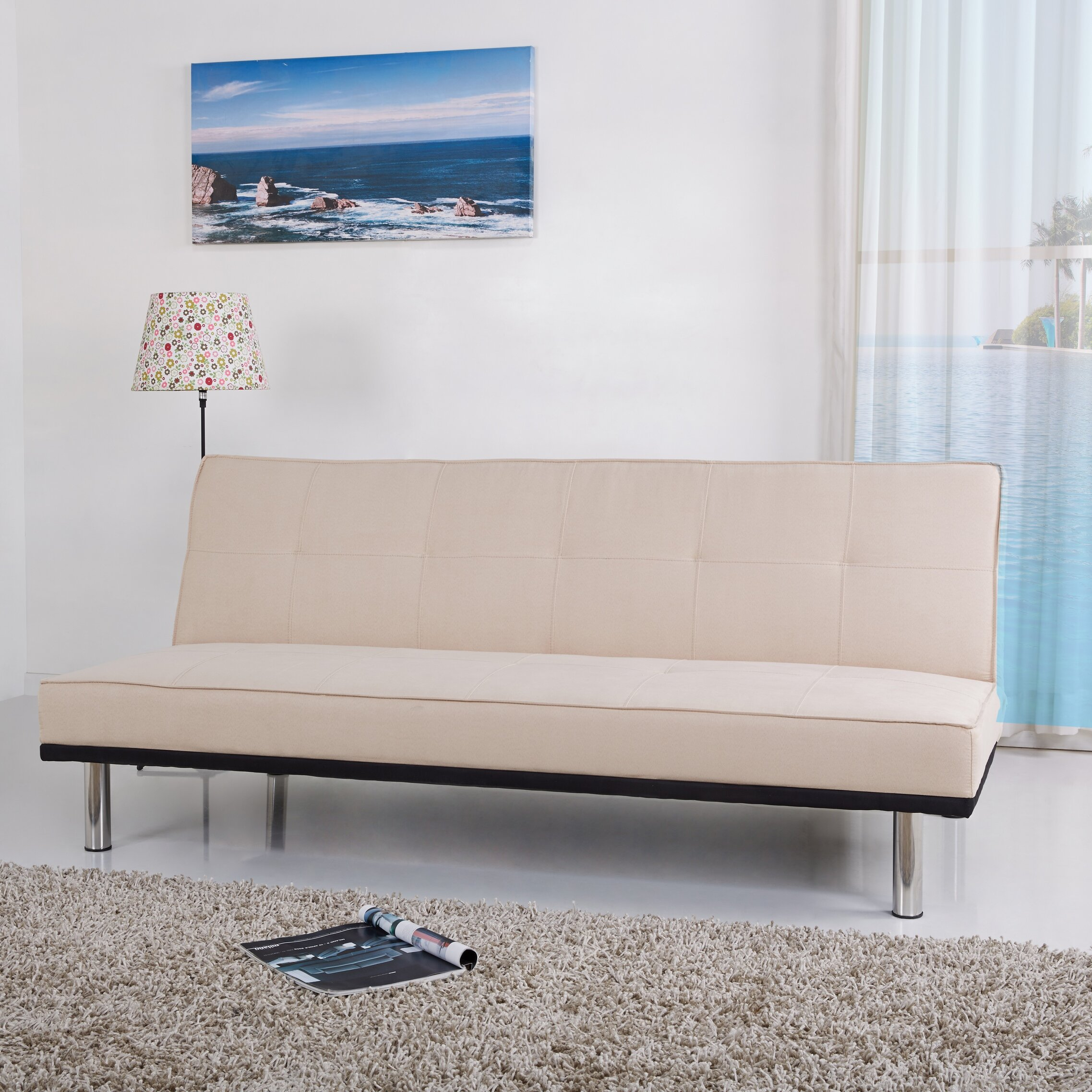 Leader lifestyle zenko 3 seater clic clac sofa bed reviews wayfair uk - Divan clic clac ikea ...