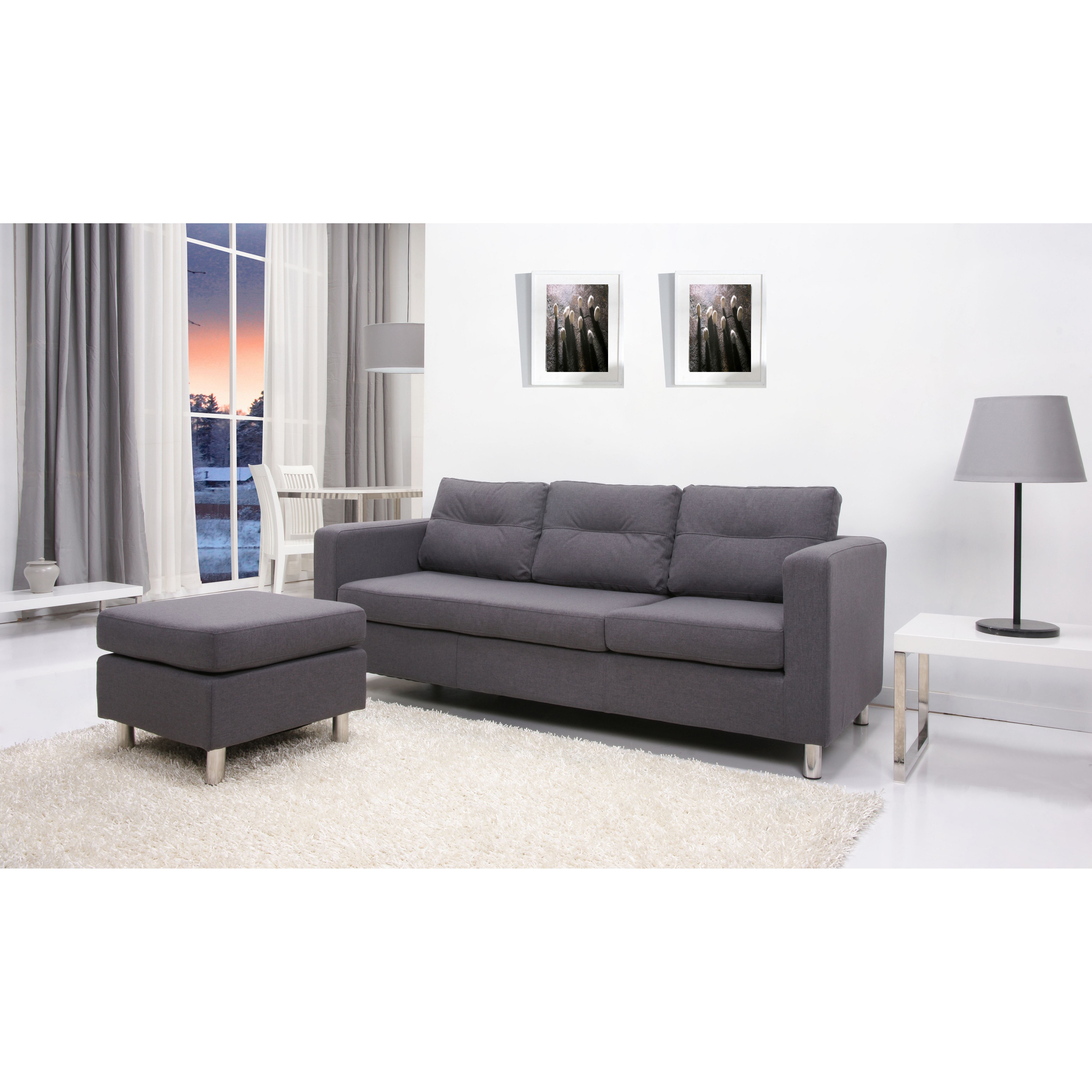 Leader lifestyle osaka reversible chaise corner sofa for Chaise corner sofas uk