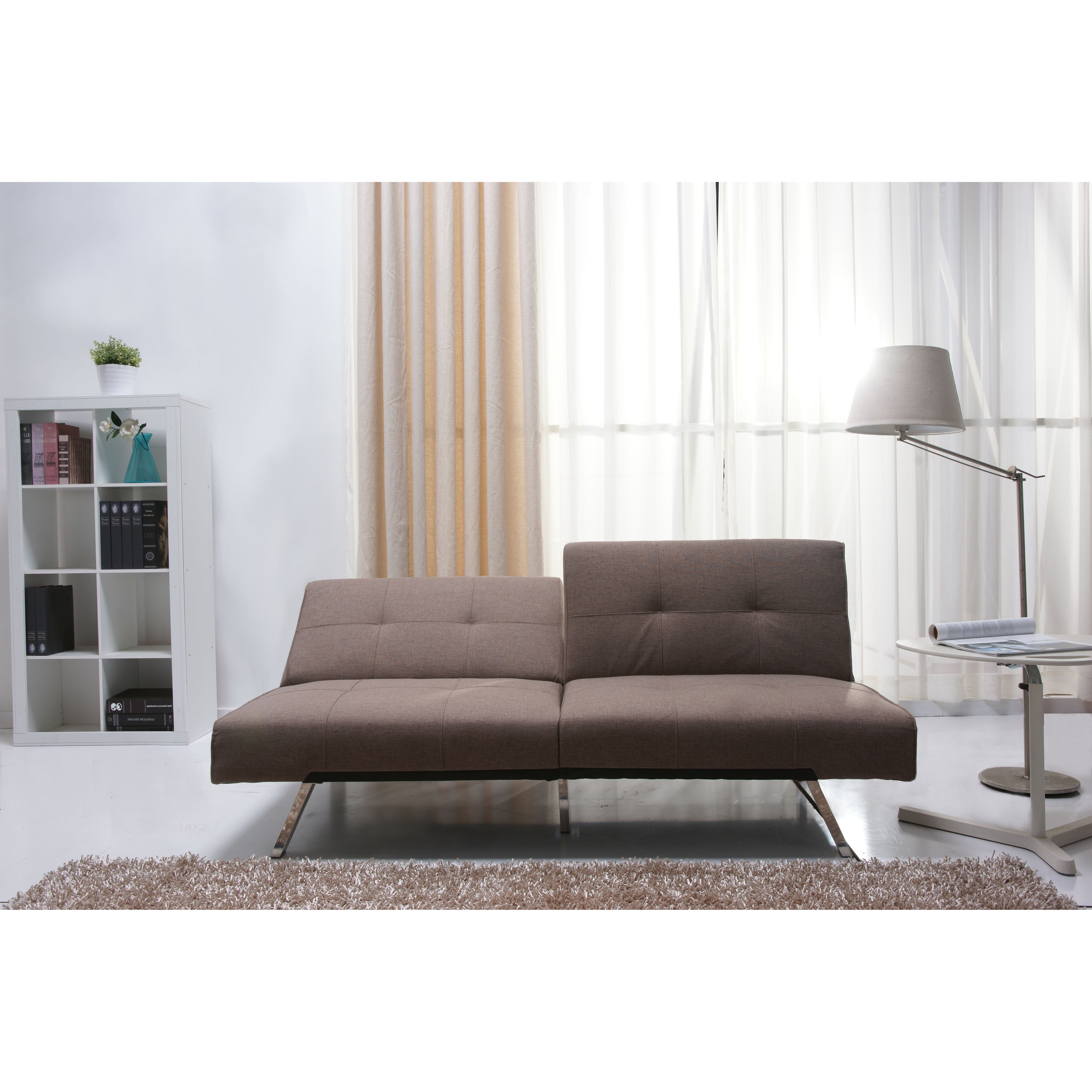 leader lifestyle 3 seater clic clac sofa reviews. Black Bedroom Furniture Sets. Home Design Ideas