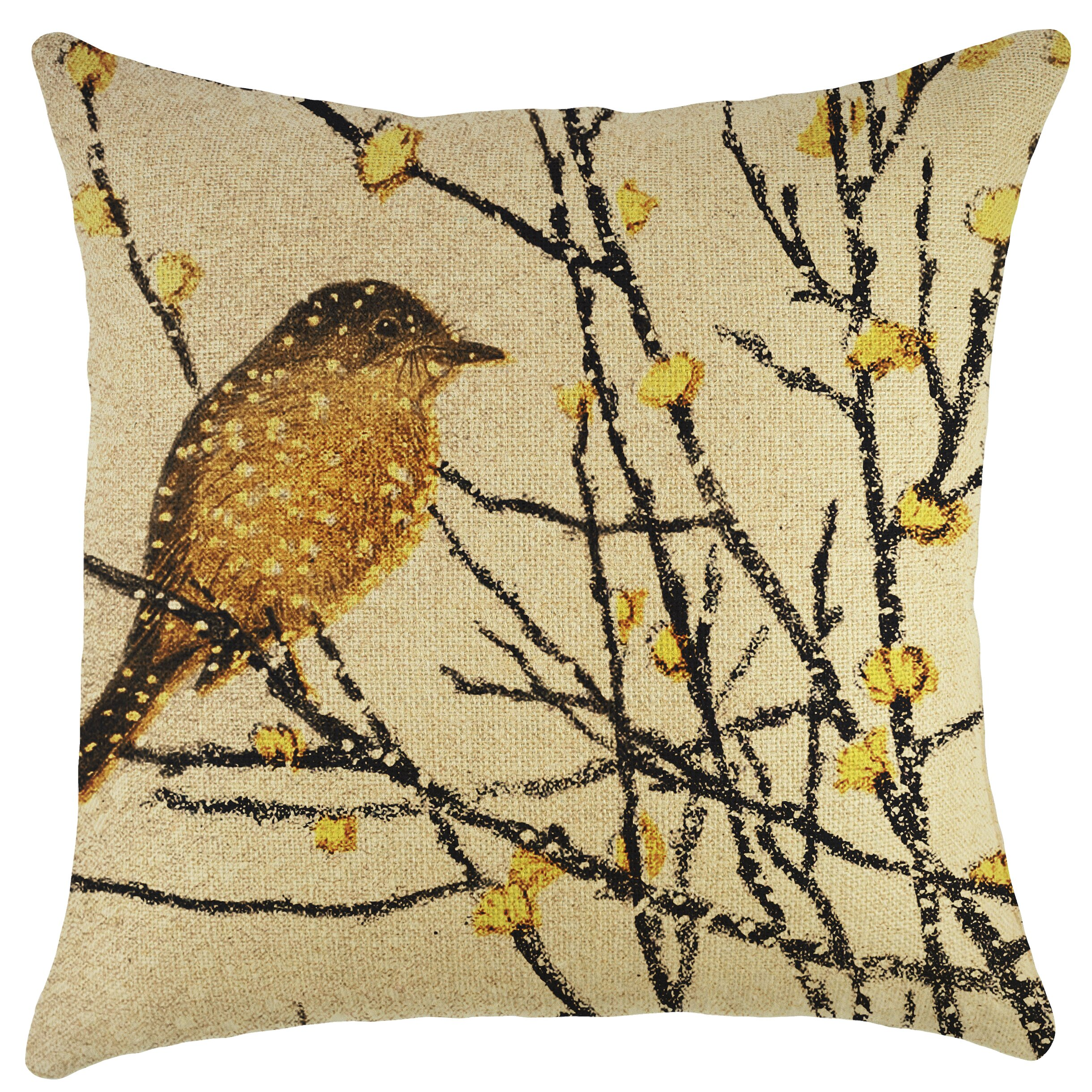 Decorative Pillows With Bird Design : TheWatsonShop Bird Burlap Throw Pillow & Reviews Wayfair