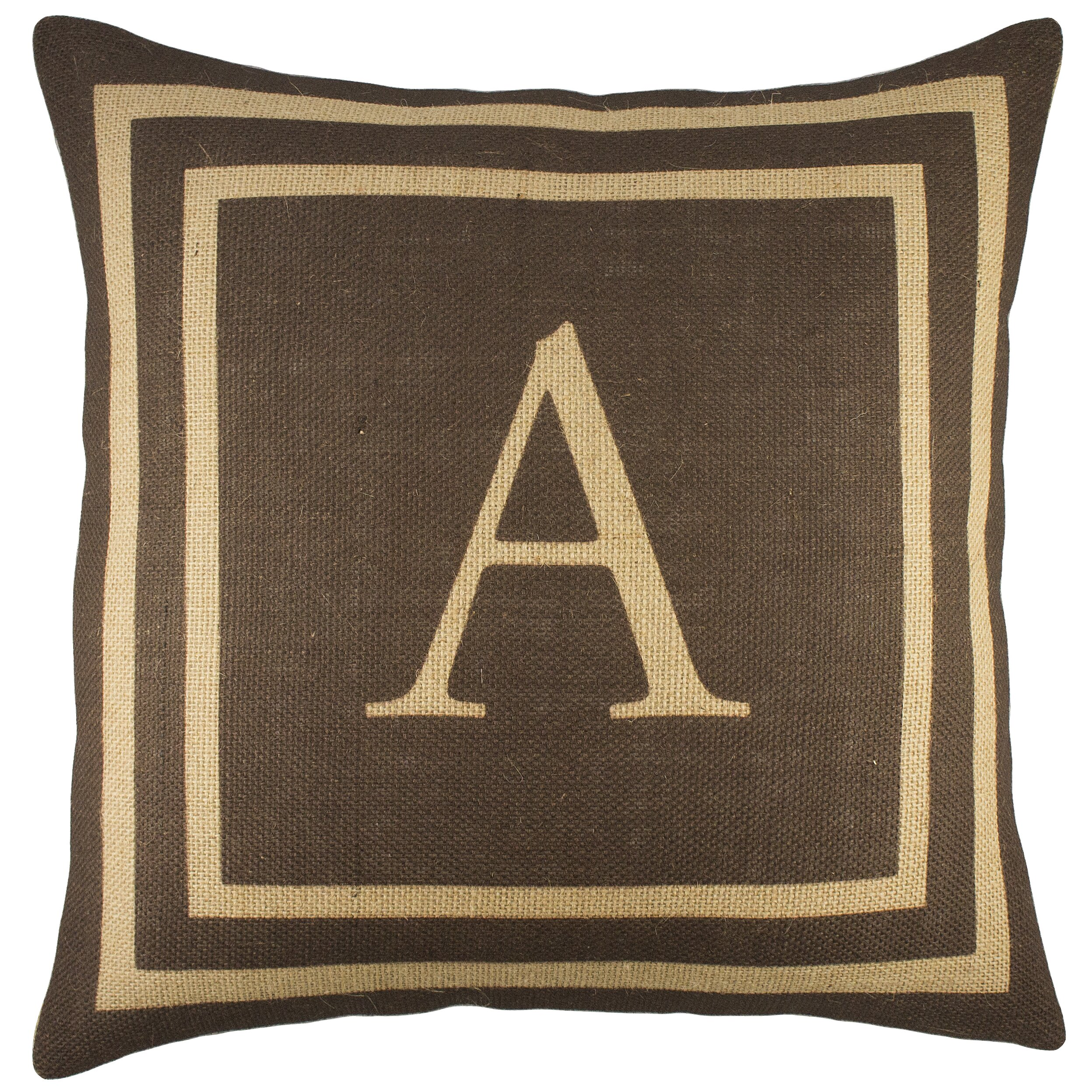 TheWatsonShop Monogram Burlap Throw Pillow & Reviews Wayfair