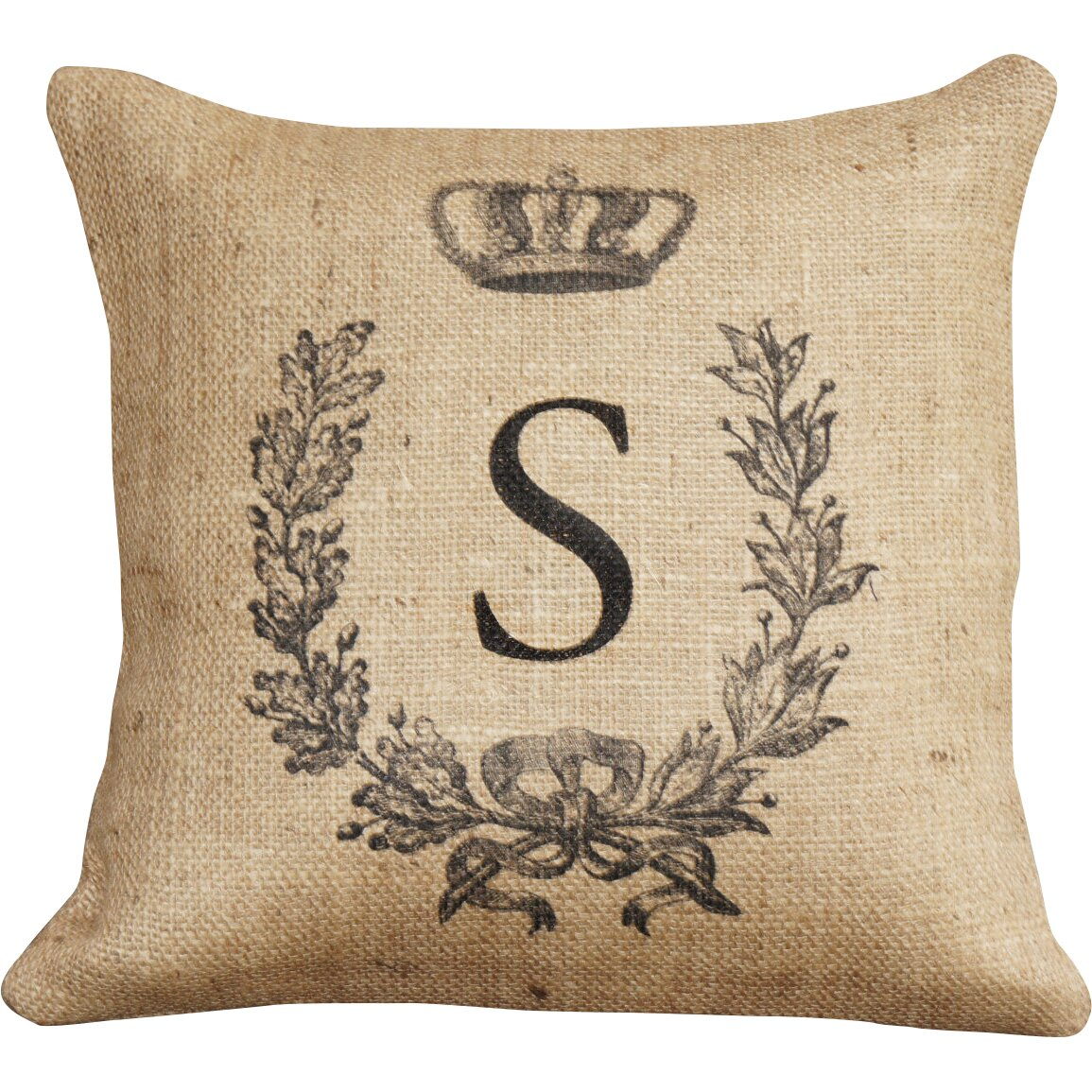 How To Make A Monogram Throw Pillow : TheWatsonShop Monogram Personalized Burlap Throw Pillow & Reviews Wayfair.ca