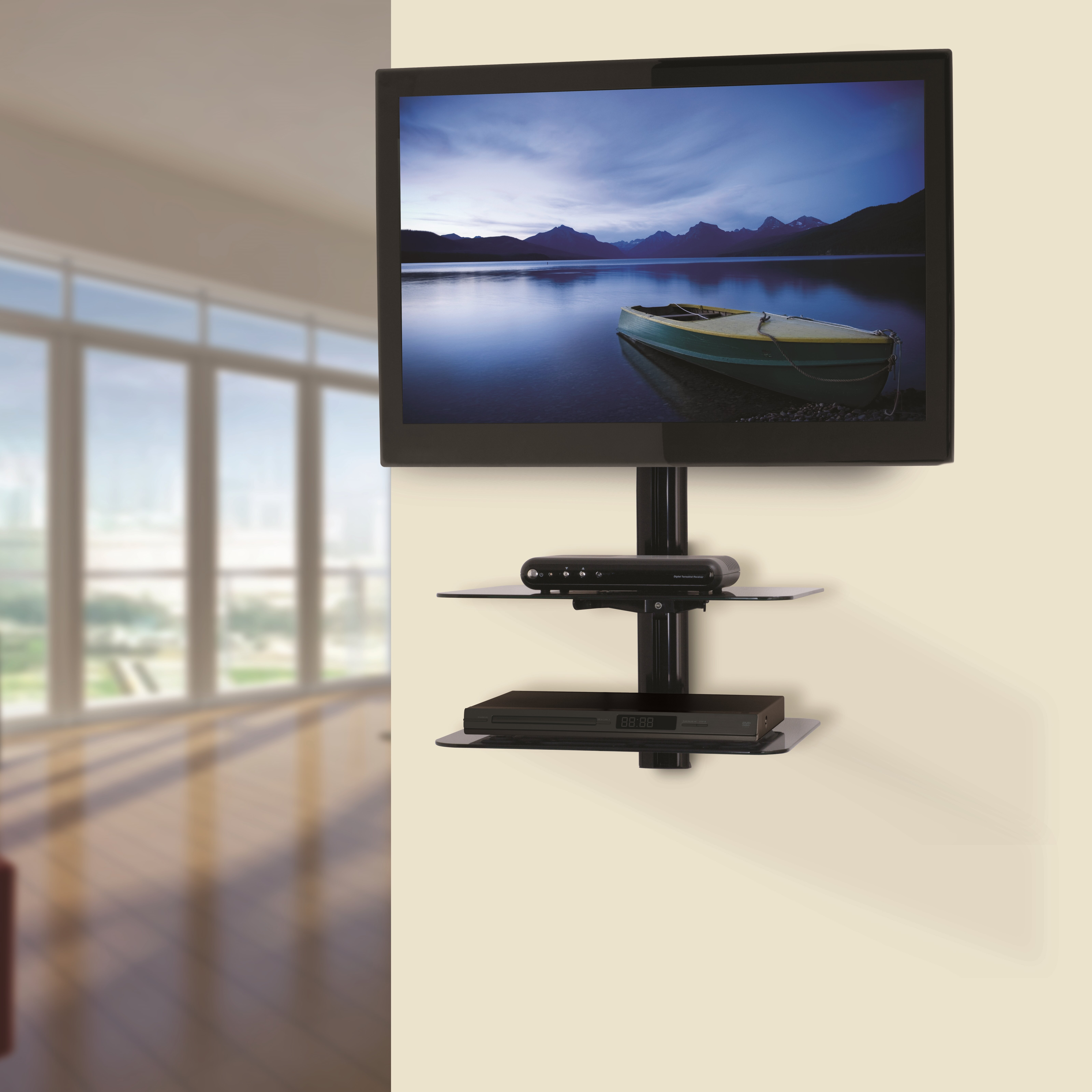Avf tilt and turn tv wall mount for 47 flat panel screens for Tv wall mount reviews