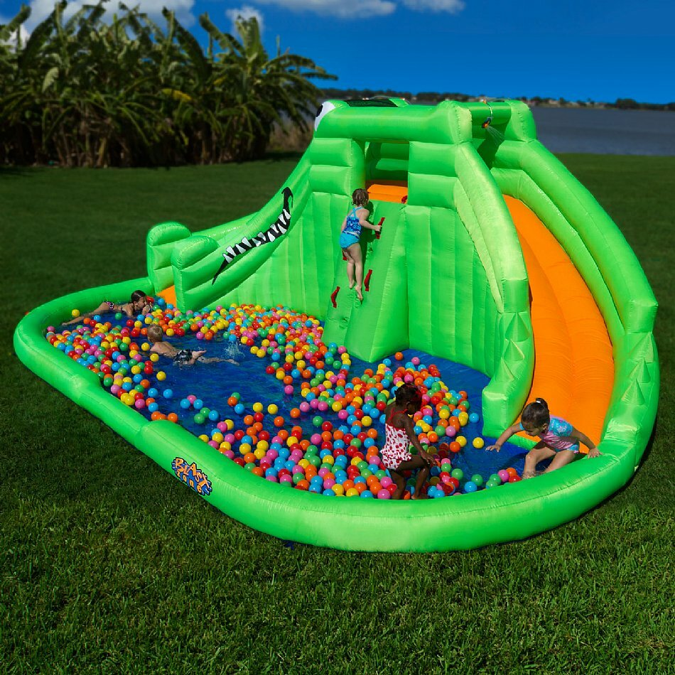 Inflatable Water Slides For Sale: Blast Zone Crocodile Isle Water Slide & Reviews