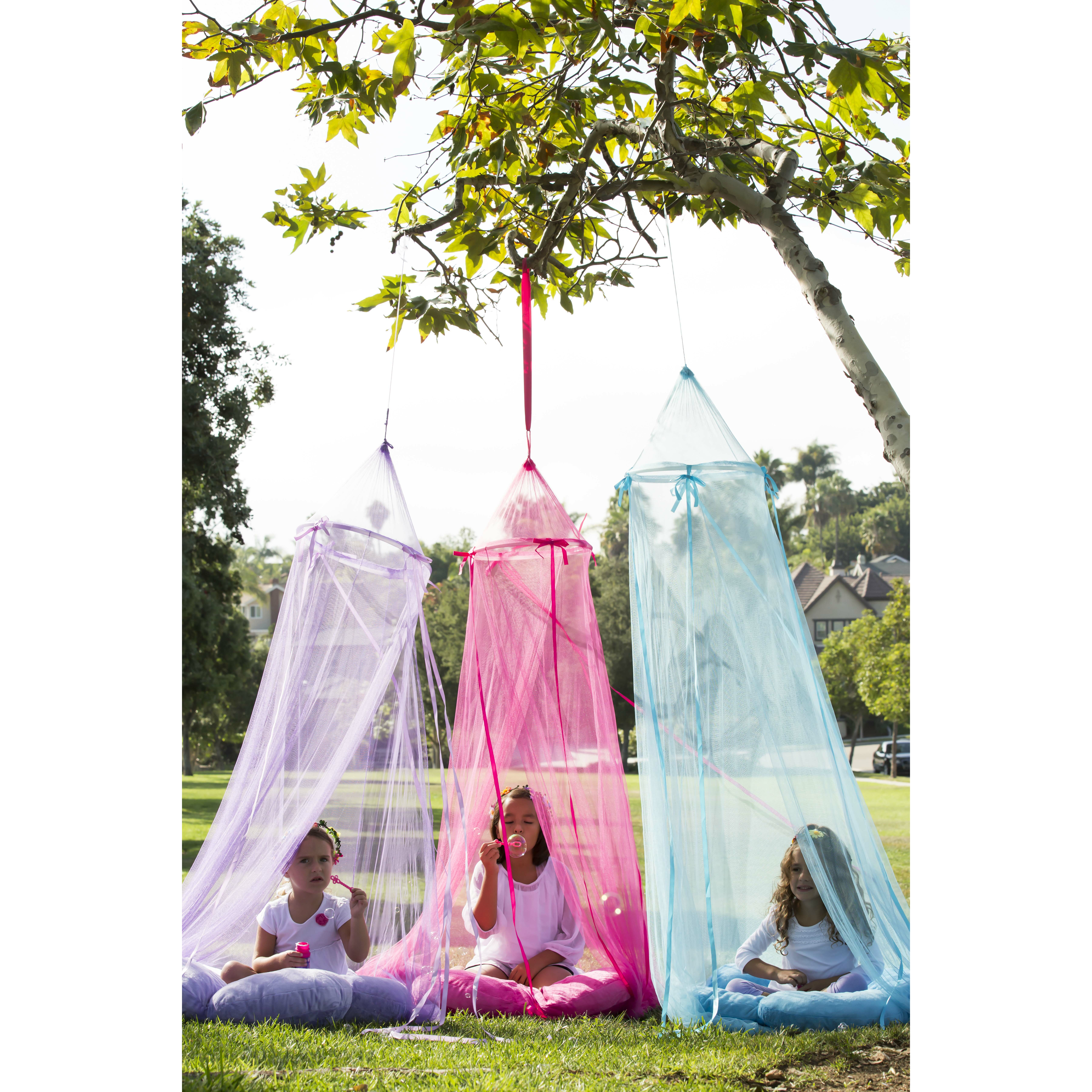 Heart to heart hanging bed canopy and play tent set of 3 for Hanging canopy over bed
