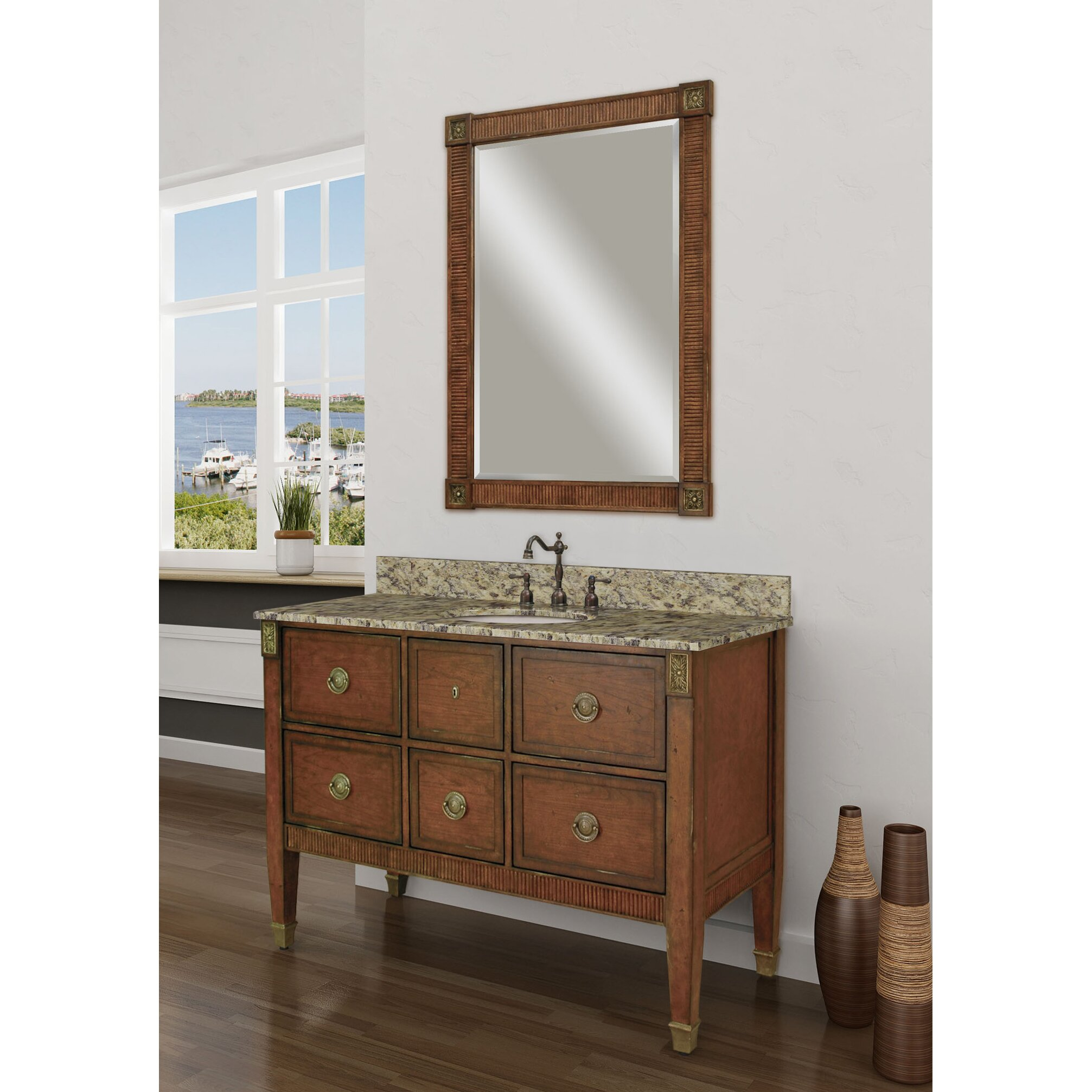 Sagehill granite 49 single bathroom vanity top wayfair for Granite bathroom vanity