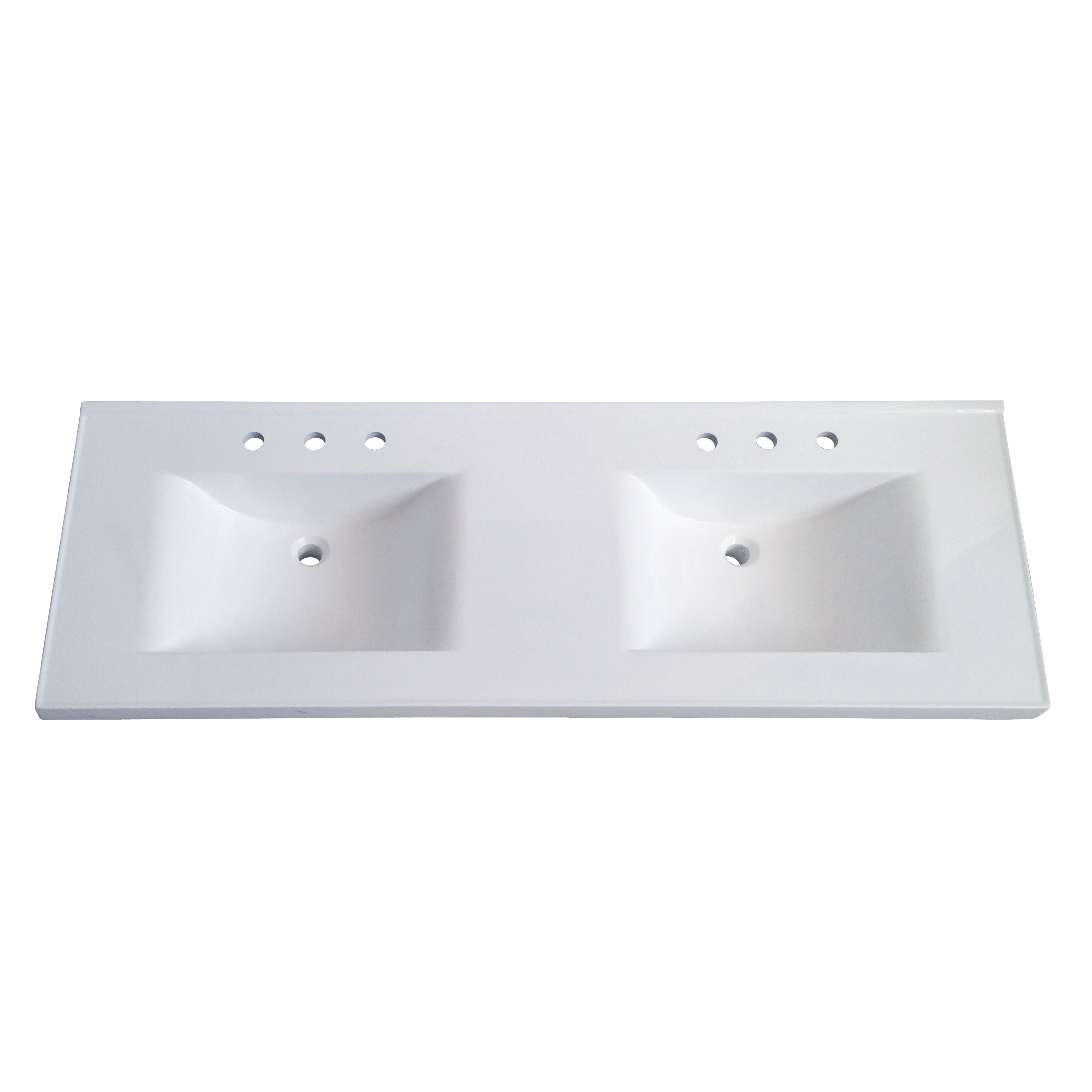 Sagehill premier 61 cultured marble vanity top reviews wayfair - Bathroom vanity tops cultured marble ...