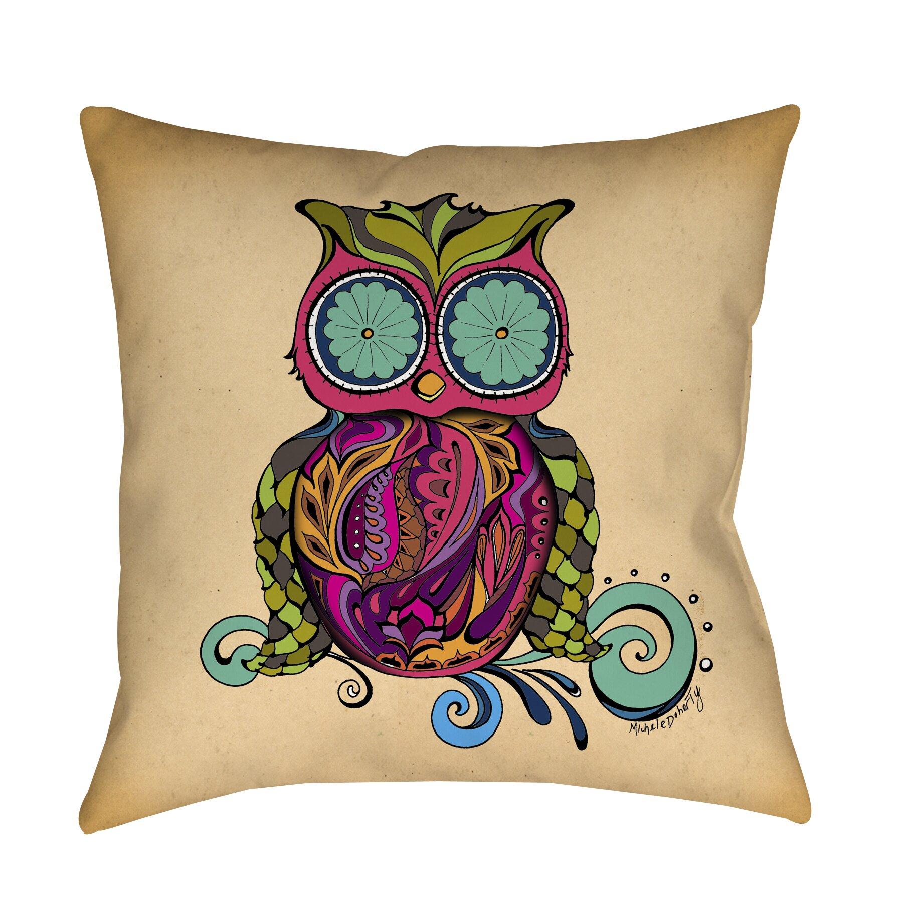 Throw Pillows With Owls : Manual Woodworkers & Weavers Owl Branch Gregir Throw Pillow & Reviews Wayfair