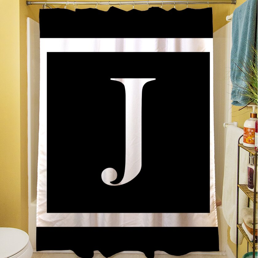 Manual Woodworkers Weavers Classic Block Monogram Shower Curtain Reviews Wayfair
