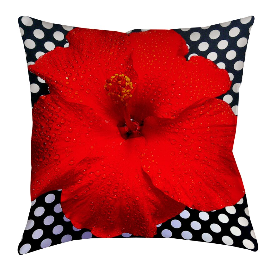 Red Hibiscus Decorative Pillow : Manual Woodworkers & Weavers Hibiscus Printed Throw Pillow & Reviews Wayfair
