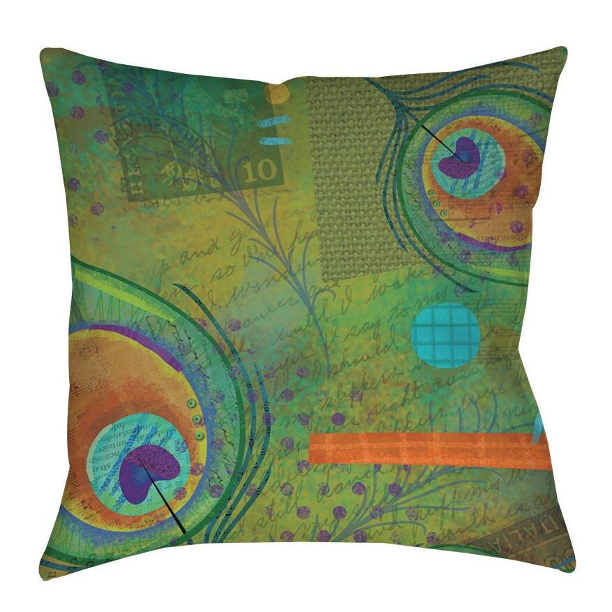 Throw Pillows Plain : Manual Woodworkers & Weavers Peacock Pattern 2 Indoor/Outdoor Throw Pillow & Reviews Wayfair